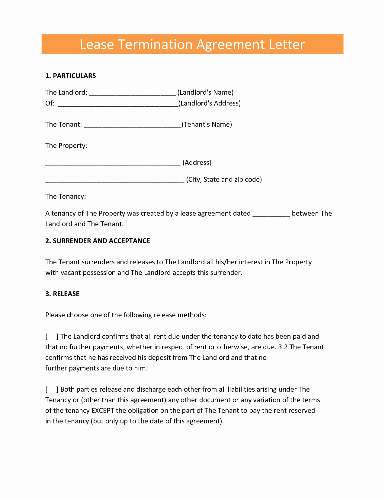 Early lease termination letter to landlord template collection early lease termination letter to landlord template 10 new early lease termination agreement thecheapjerseys Image collections