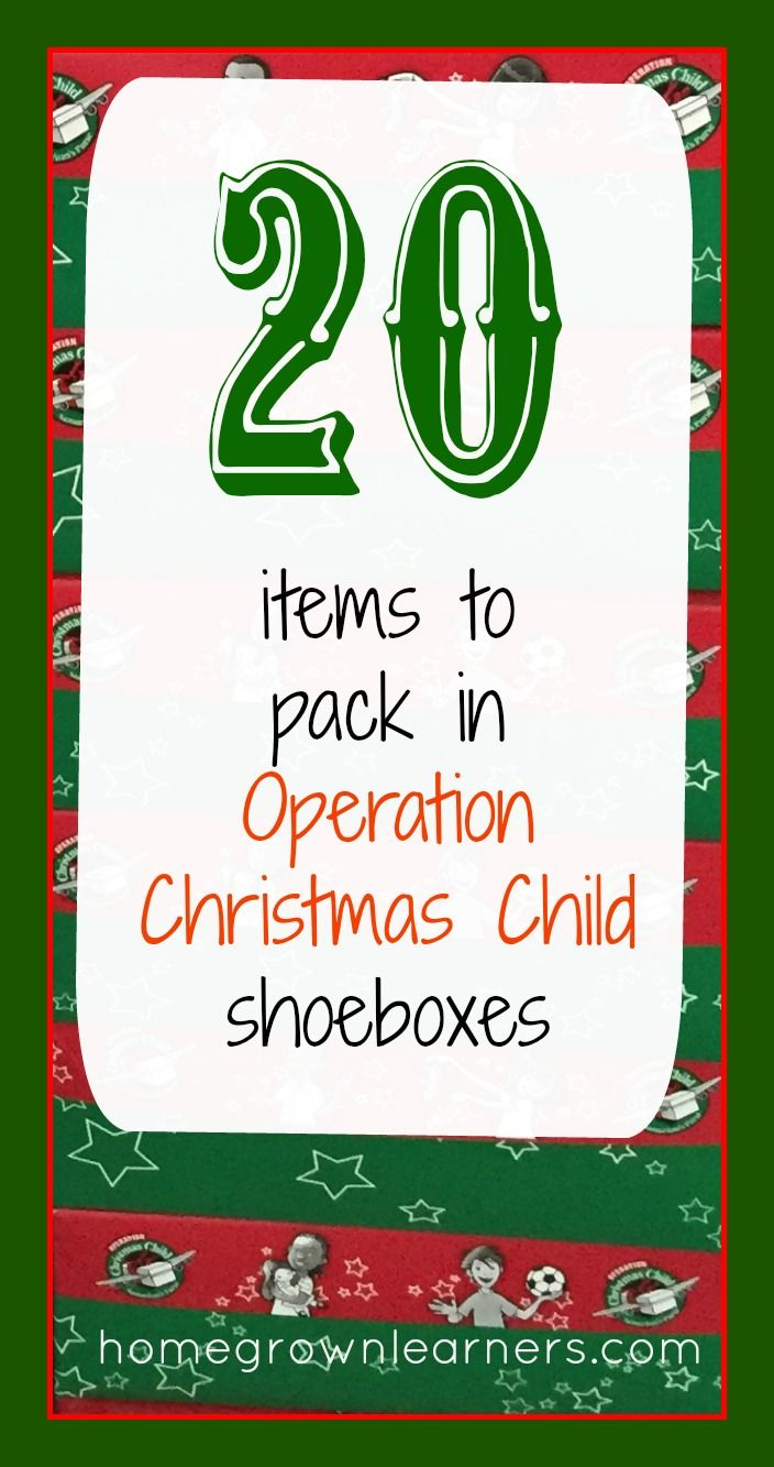 operation christmas child letter template example-20 Items to Pack in Operation Christmas Child Shoeboxes 17-h