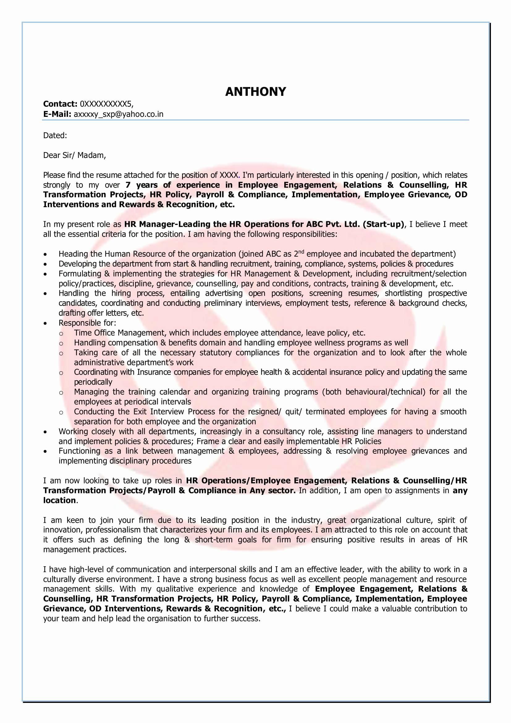 Secretary Cover Letter Template - 12 Awesome Cover Letters for Secretary Resume Templates Resume
