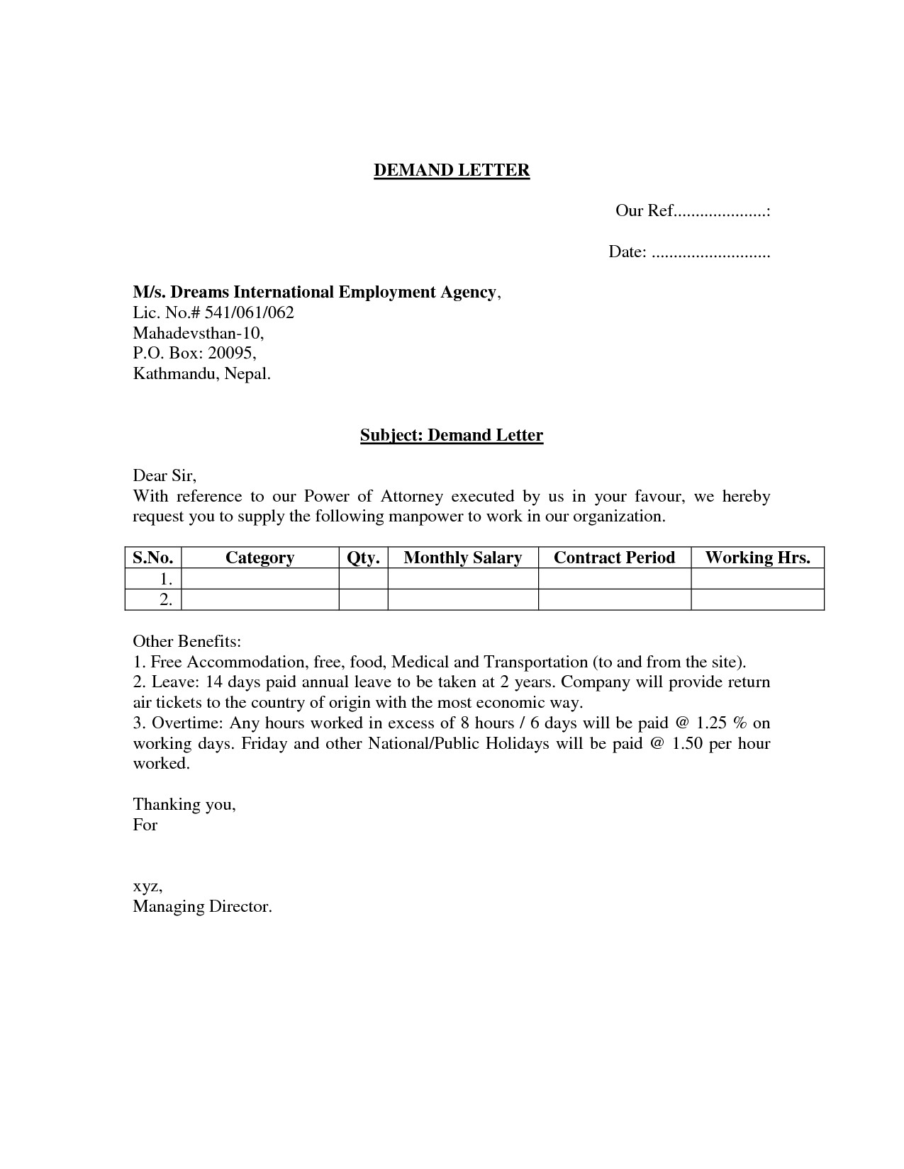 Demand for Payment Letter Template Free - 15 Fresh Demand Letter Breach Contract