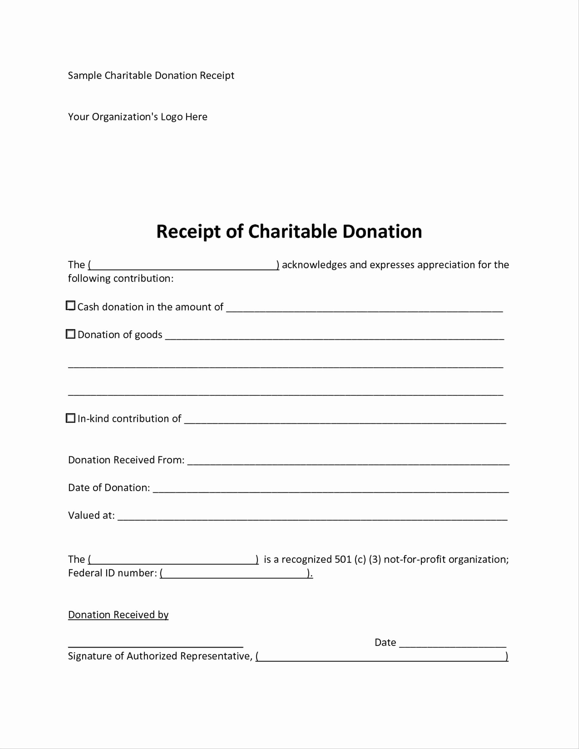 Charitable Donation Receipt Letter Template - 15 Lovely Tax Donation Letter Template Resume Templates Resume