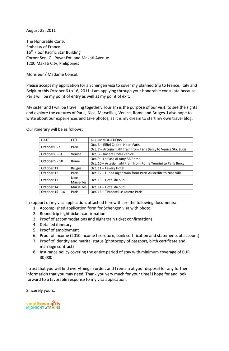 esa travel letter template example-cover letter for schengen visa application the french embassy covering why you need someone 18-i