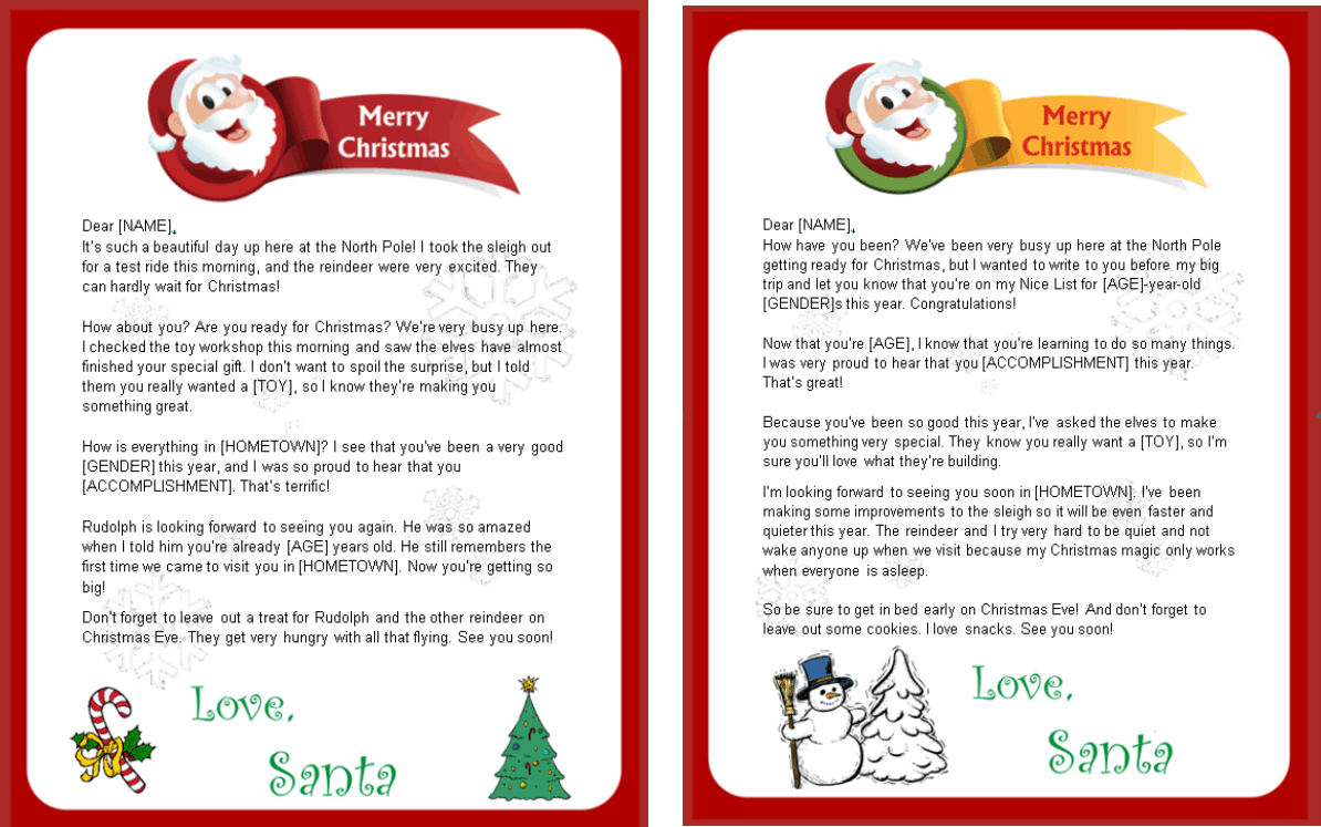 Santa Response Letter Template - 19 Fresh Template Letter From Santa to Child Graphics