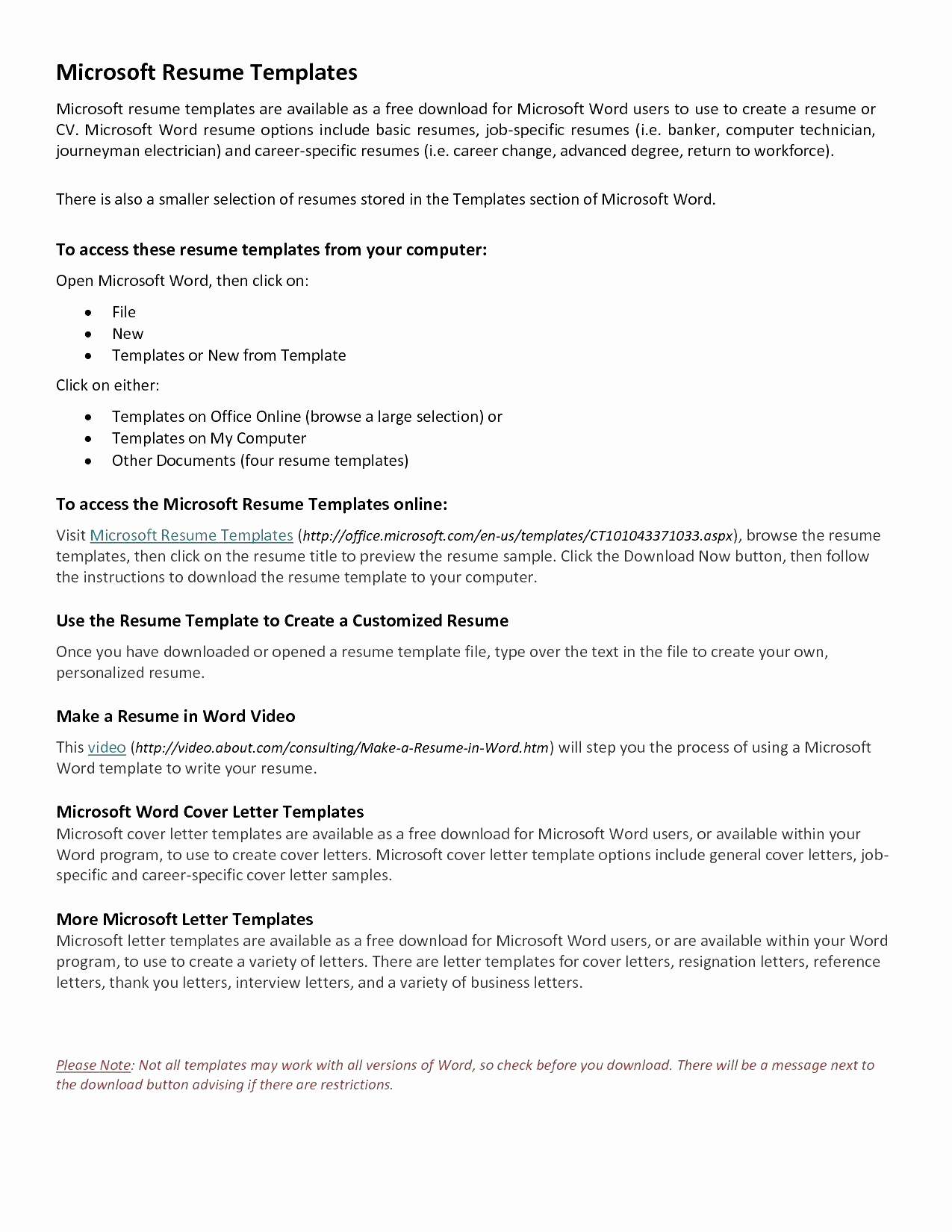 Download Letter Template - 20 Easy Cover Letter Templates