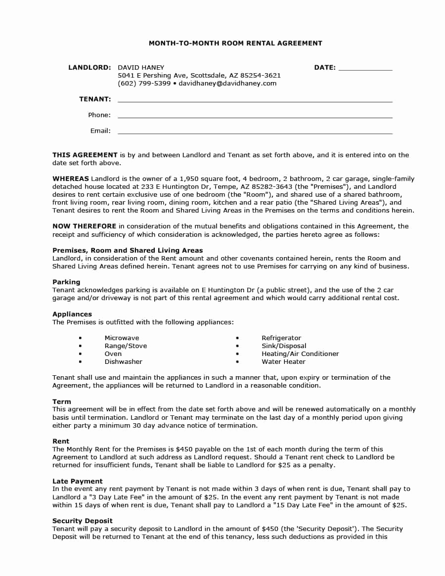 month to month lease termination letter template example-Lease Termination Letter From Landlord New 39 Simple Room Rental Agreement Templates Template Archive 13-c