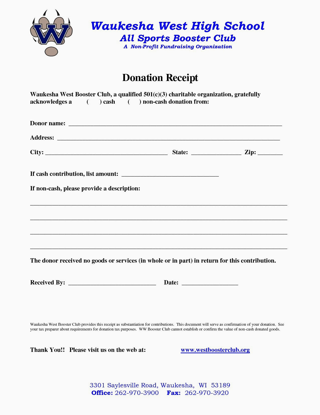 Non Profit Donation Letter Template - 20 New Non Profit Customizable Receipt Template