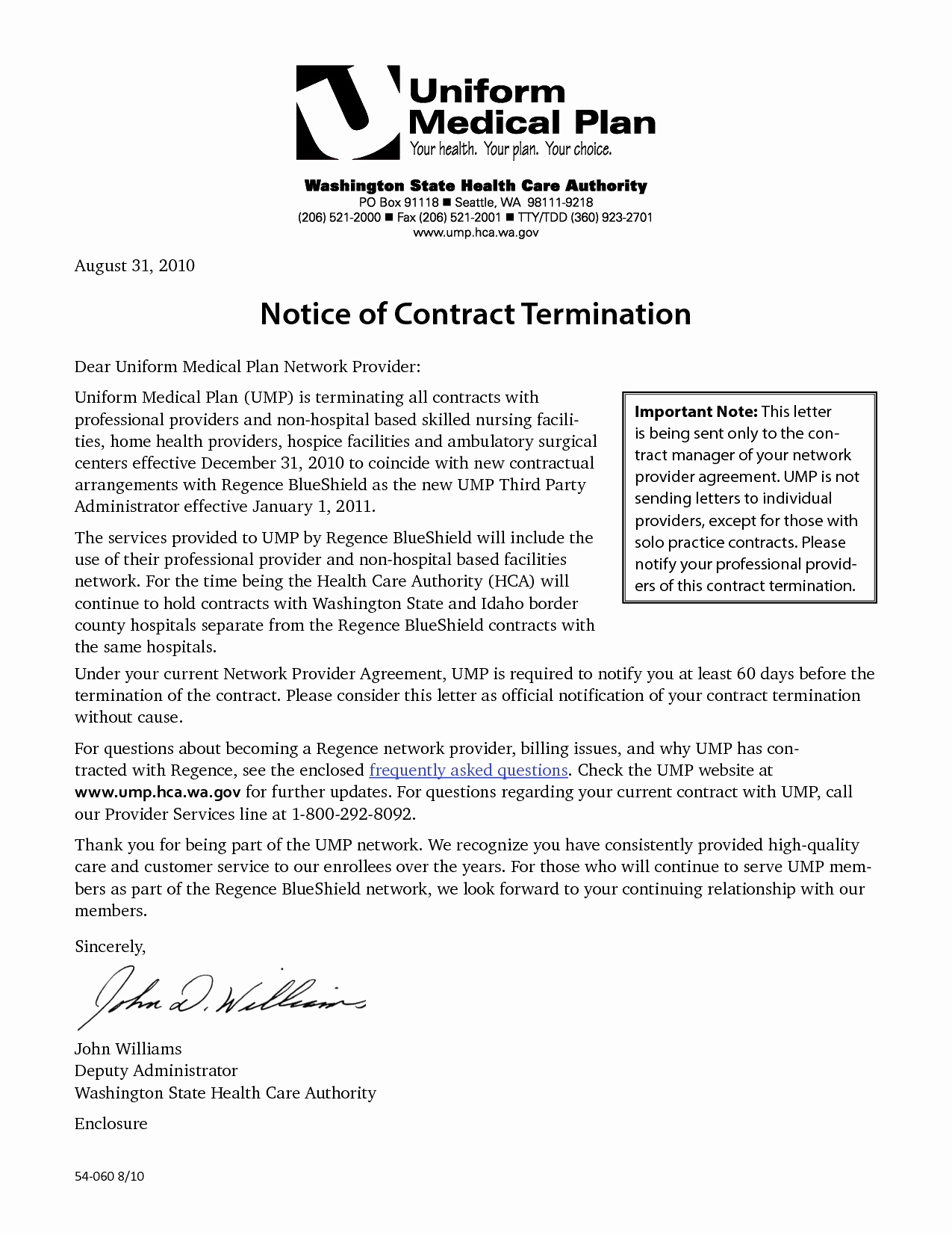 Notice Of Contract Termination Letter Template - 20 Sample Contractor Termination Letter