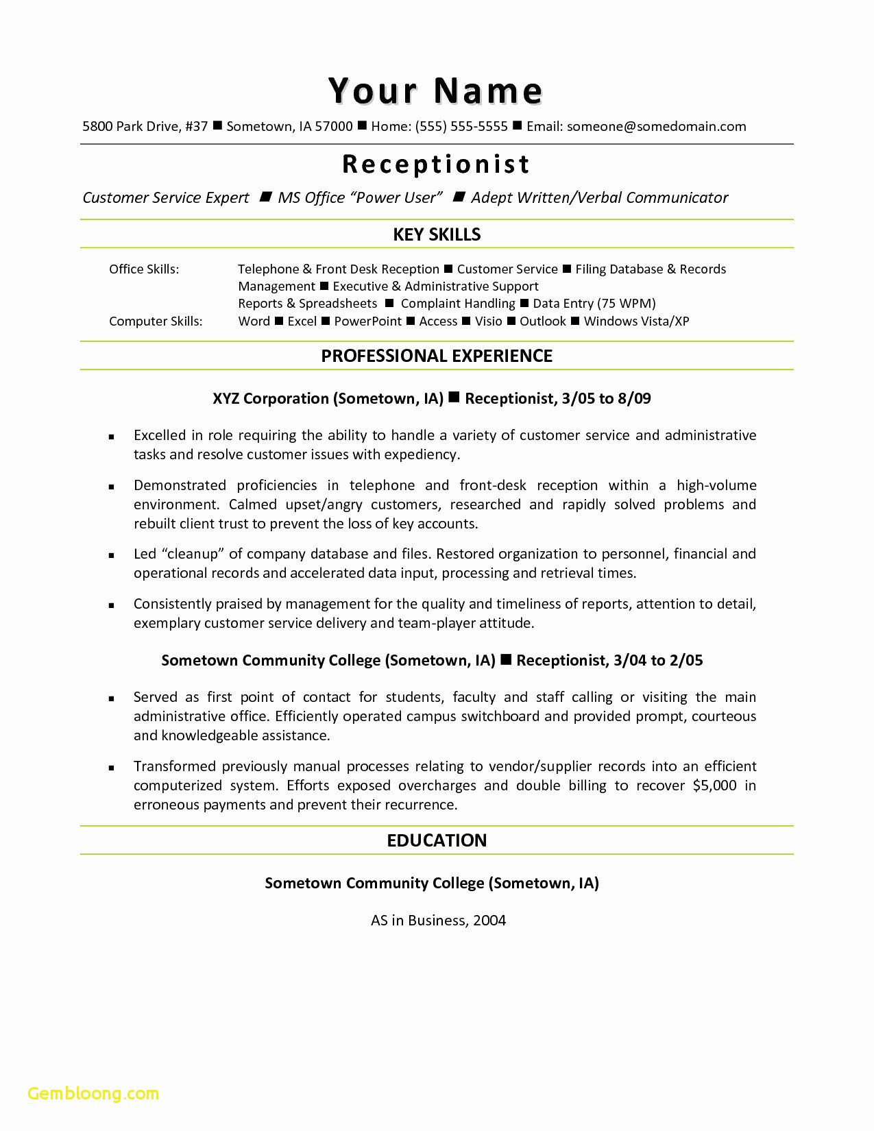 Going Paperless Letter to Customers Template - 21 Free Customer Service Resume Bcbostonians1986