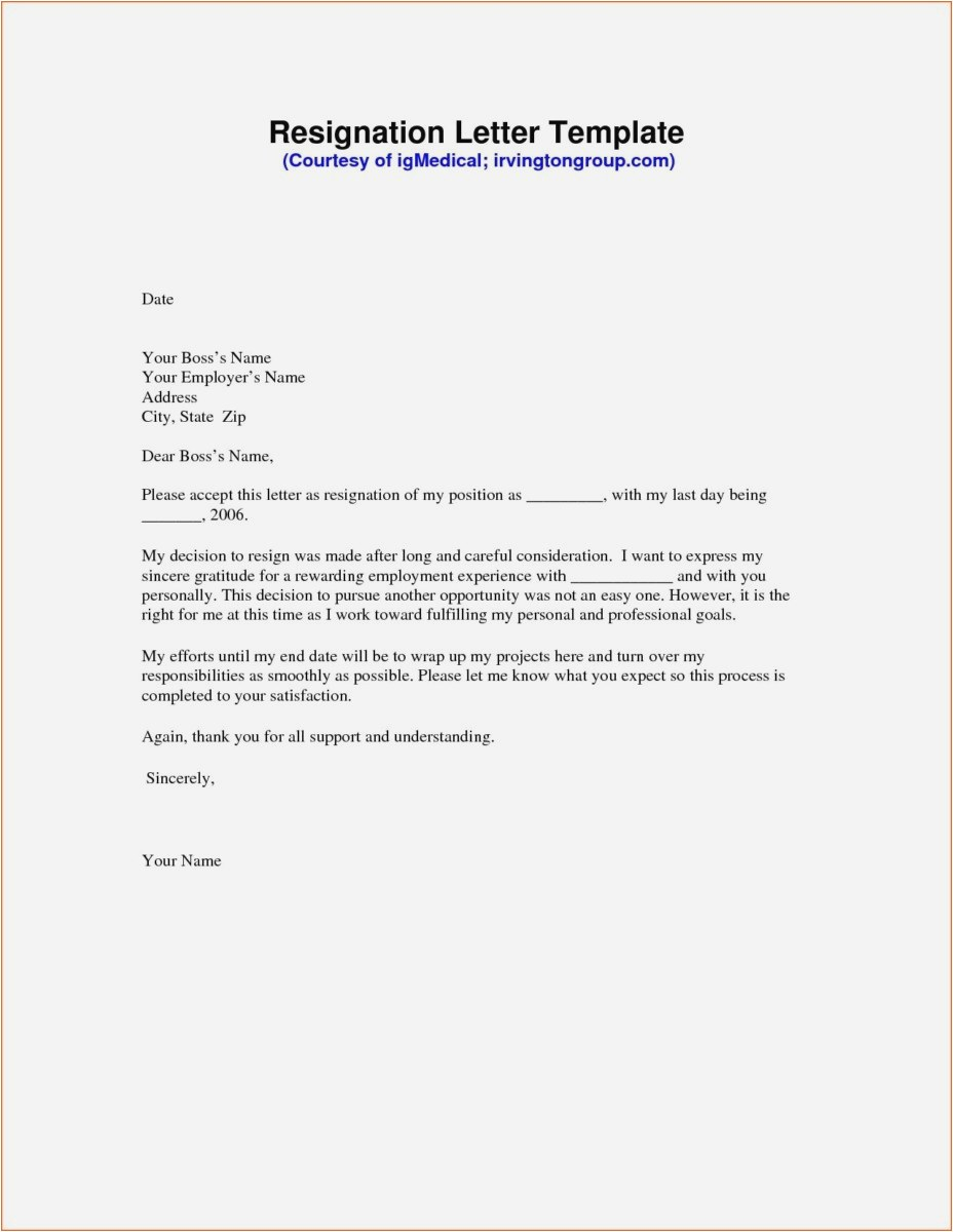 Resignation Letter format Template - 23 New Writing Resignation Letter Examples
