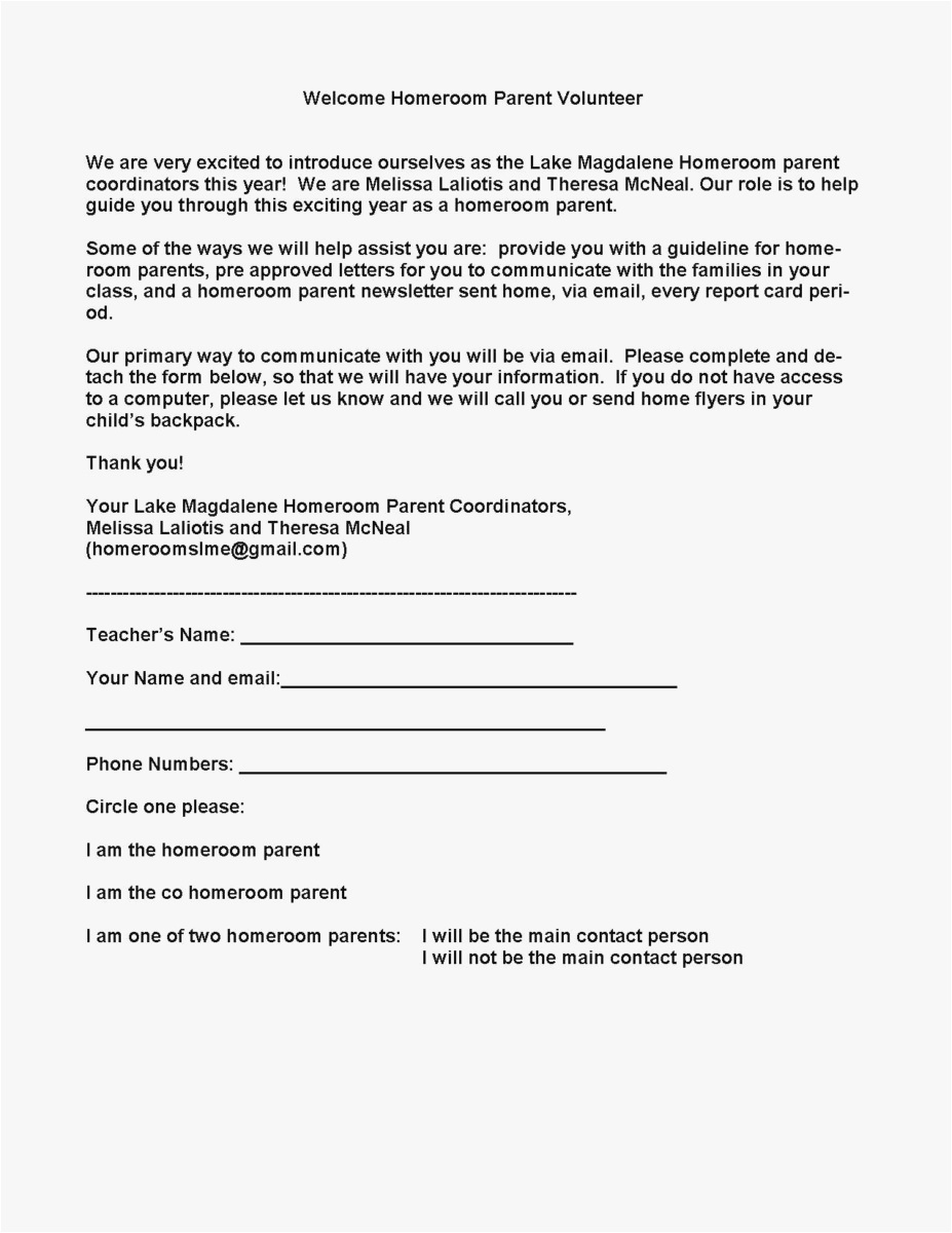 Letter Of Intent to Hire Template - 23 Parent Letter Template format