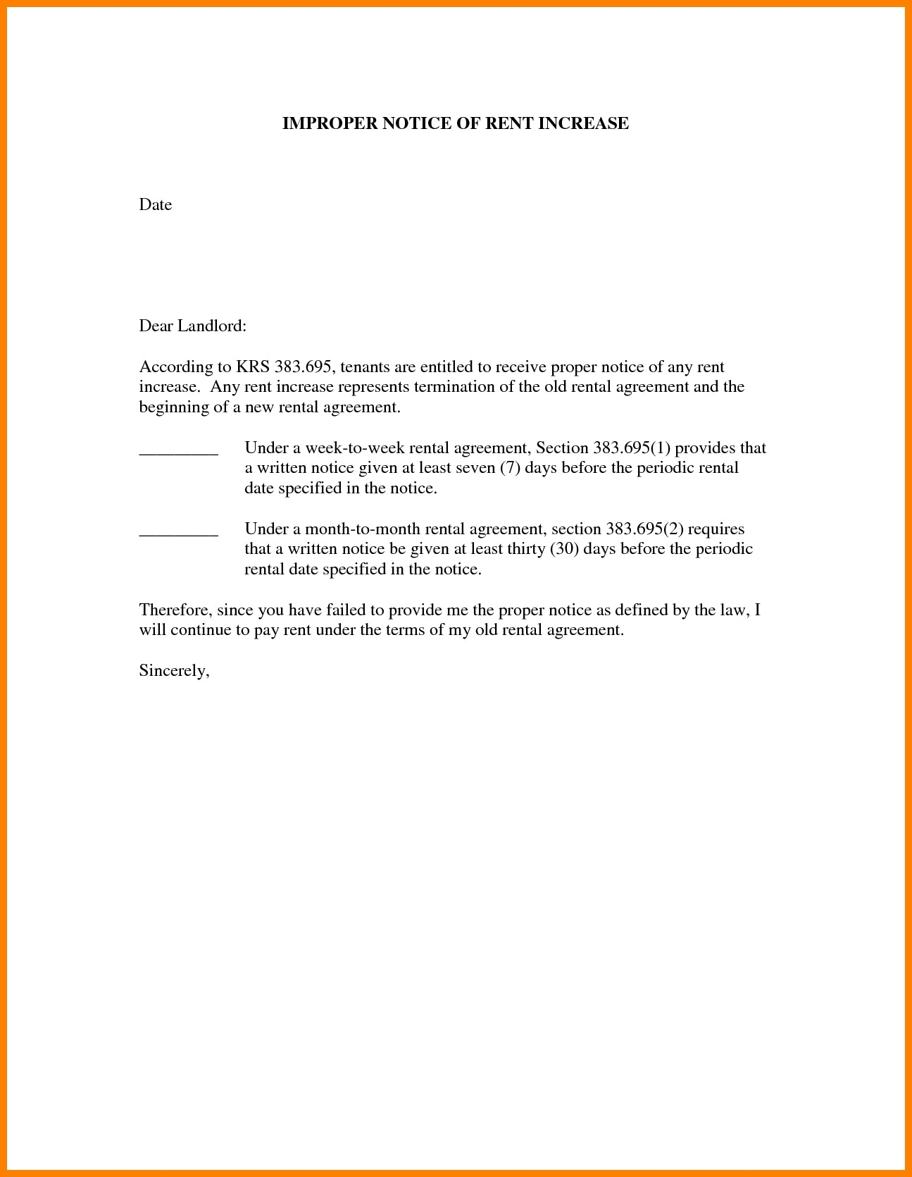 Tenancy Notice Letter Template - 24 Fresh Tenancy Agreement Notice Example Pics