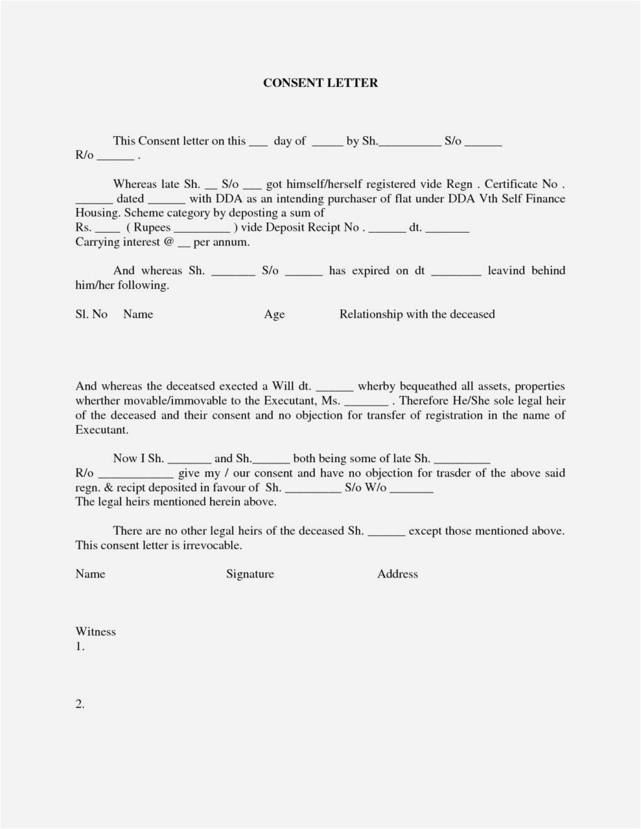 Letter Of Permission to Travel with Grandchildren Template - 25 New Letter Consent format