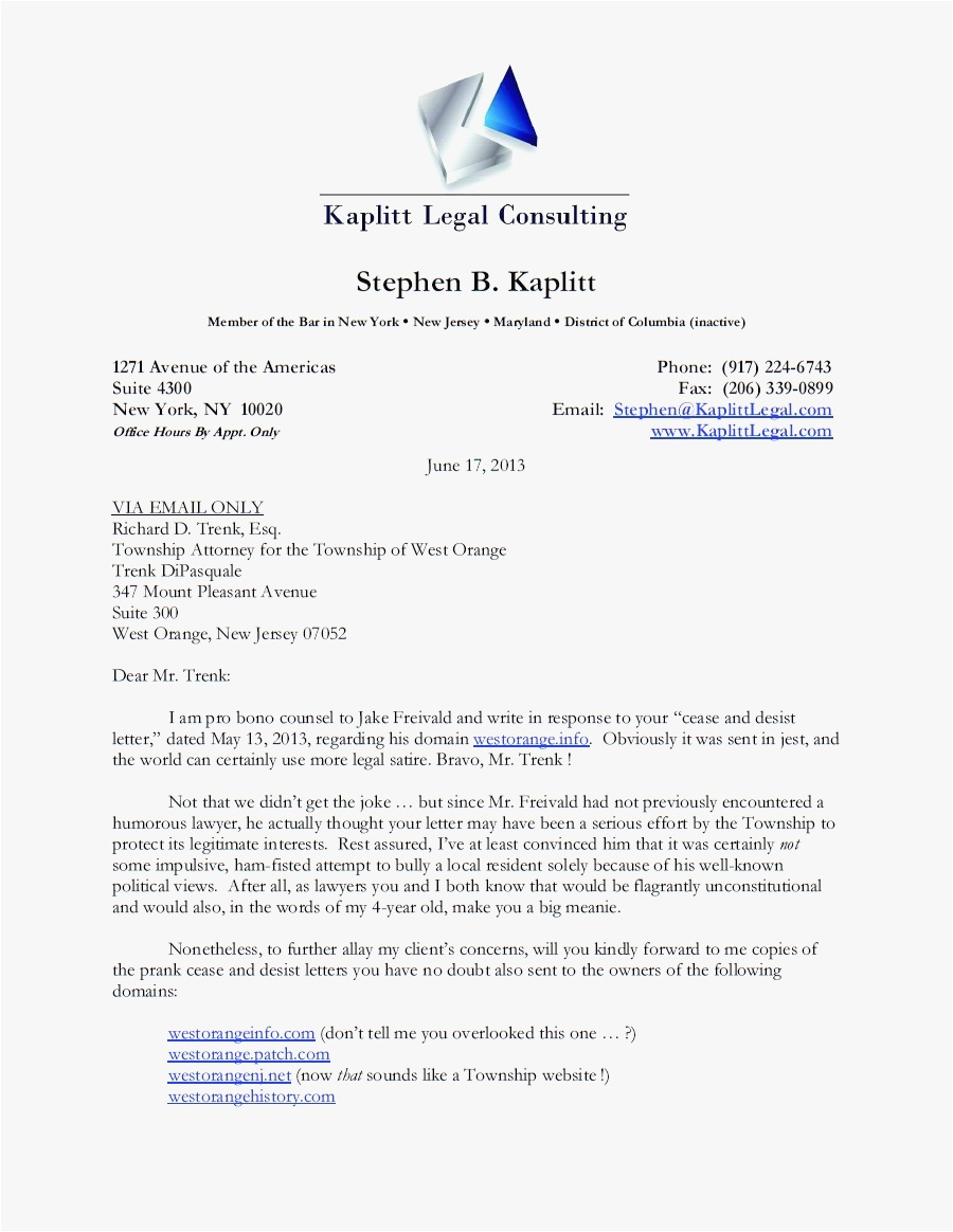 Free Cease and Desist Letter Template for Slander - 26 Cease and Desist Letter Template Picture
