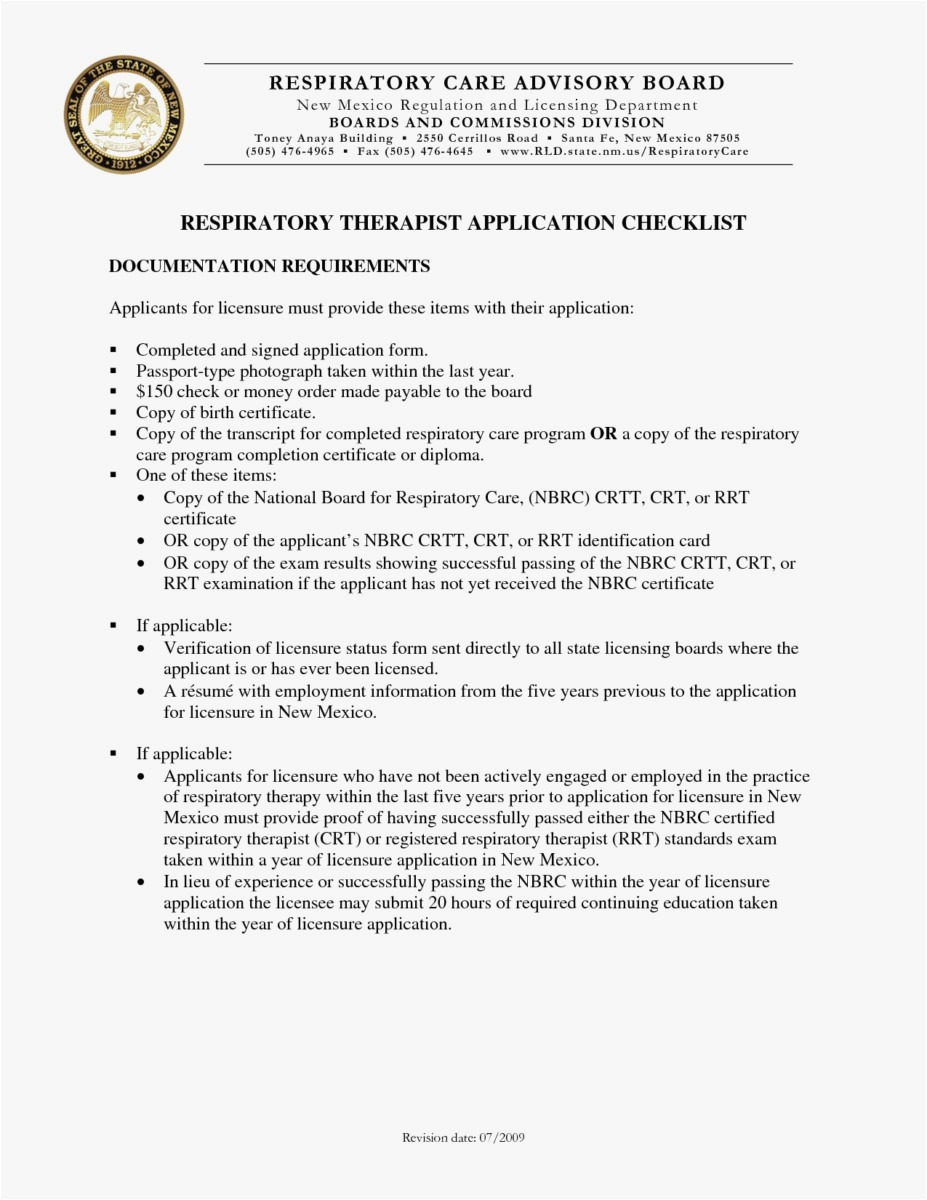Respiratory therapy Cover Letter Template - 26 Resume Respiratory therapist