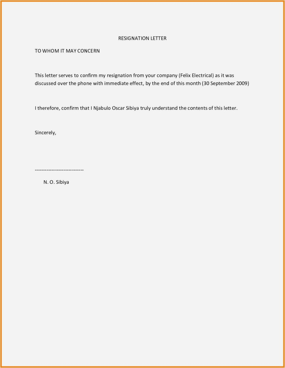Immediate Resignation Letter Template - 27 Best Resignation Letter Samples Model