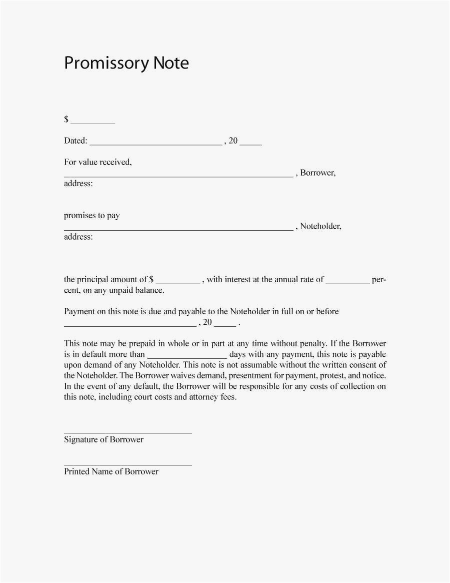 Demand Letter Promissory Note Template - 27 Free Promissory Note Template Word