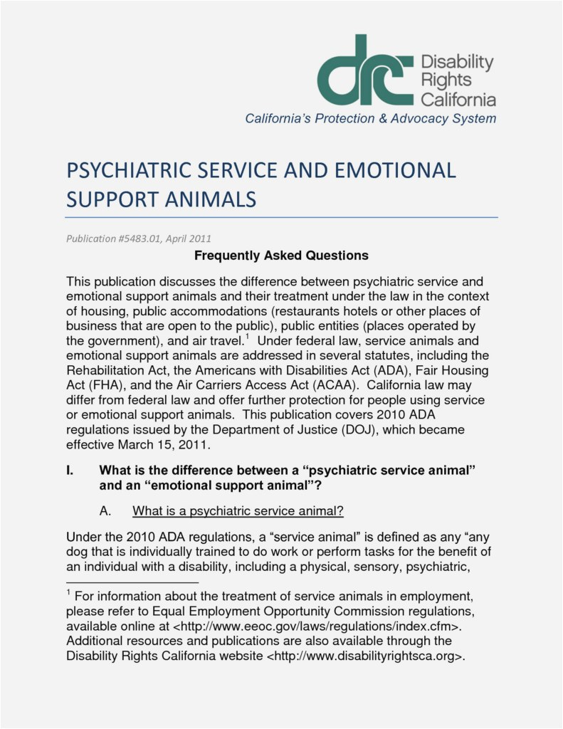 Emotional Support Animal Template Letter - 27 New Sample Emotional Support Animal Letter Download