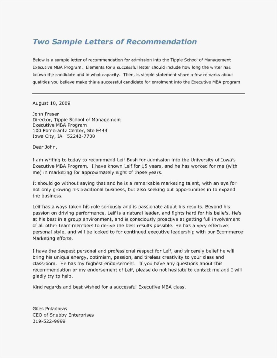 Professional Letter Of Recommendation Template - 27 Template for Letter Re Mendation Picture