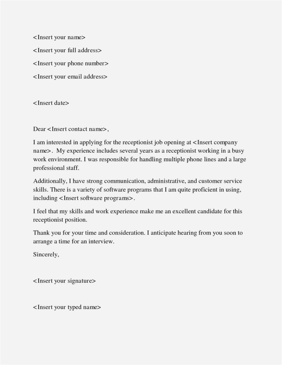 Simple Cover Letter Template for Job Application - 28 New Simple Cover Letters Example
