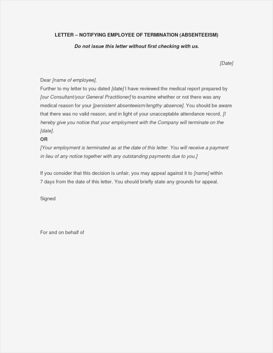 Layoff Letter Template - 28 Separation Notice Template Free Download