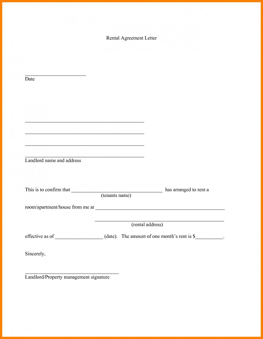 Landlord Agreement Letter Template - 30 Unique Residential Lease Agreement form Pdf