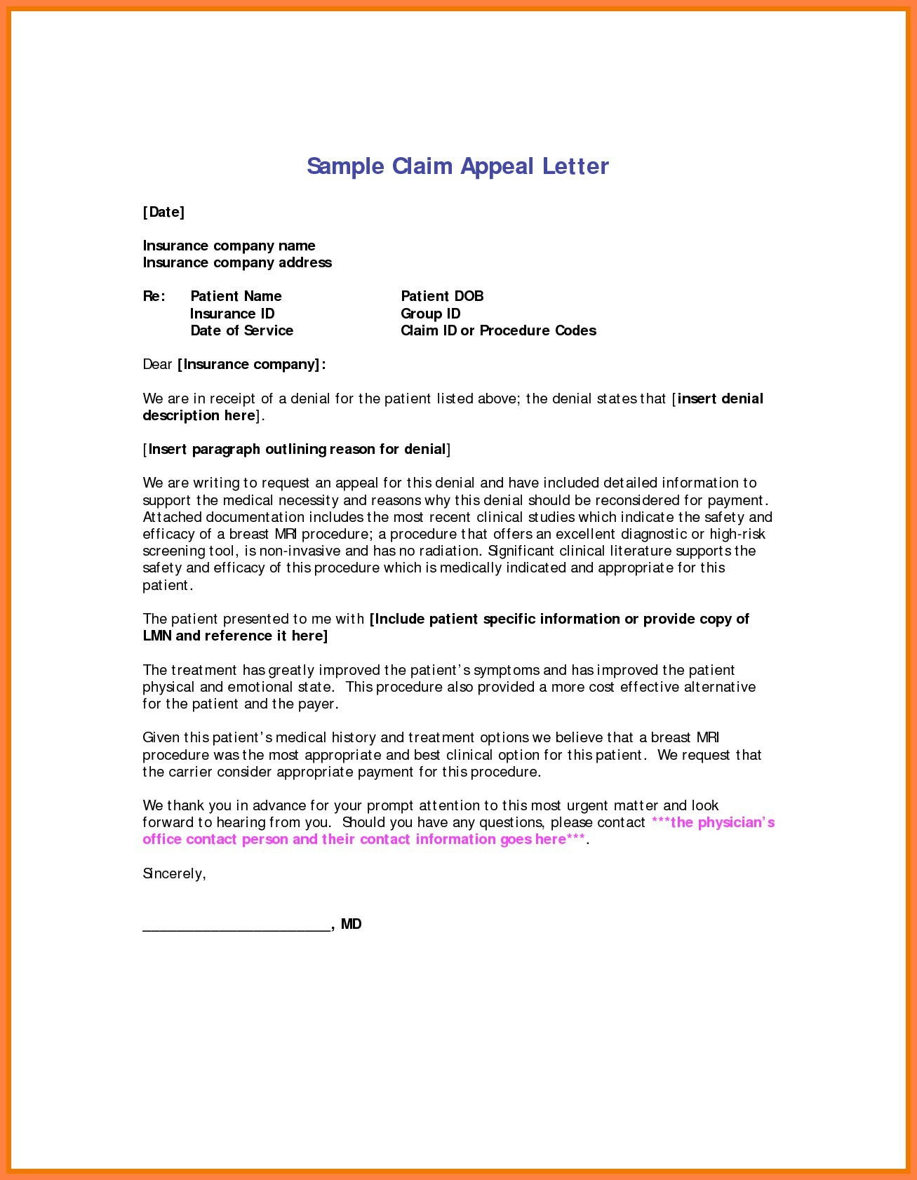 Appeal disability denial letter 9 traditional resume templates part disability insurance appeal letter template samples letter cover 36 lovely insurance appeal letter sample of disability expocarfo Images