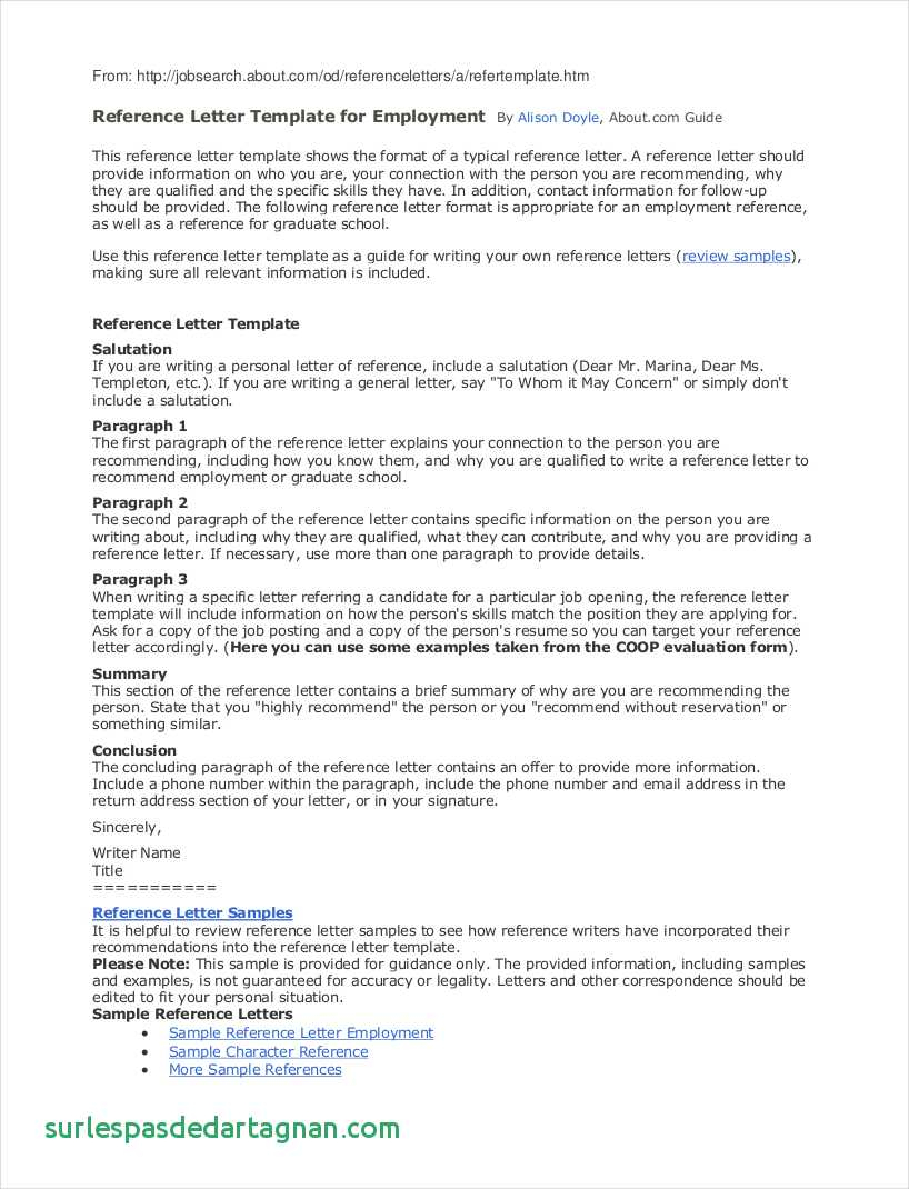 Reference Letter Template Pdf - 9 Employee Reference Letter Examples & Samples In Pdf New