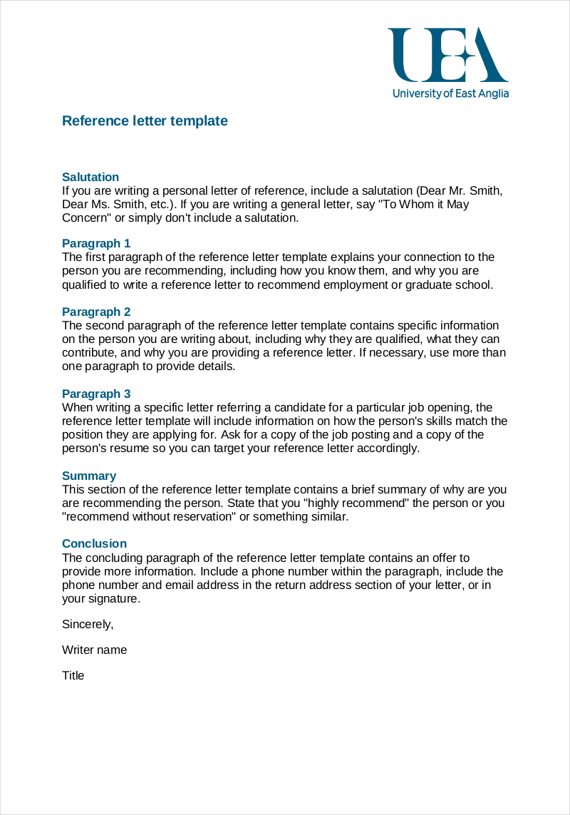 Employee Referral Letter Template - 9 Employee Reference Letter Examples & Samples In Pdf