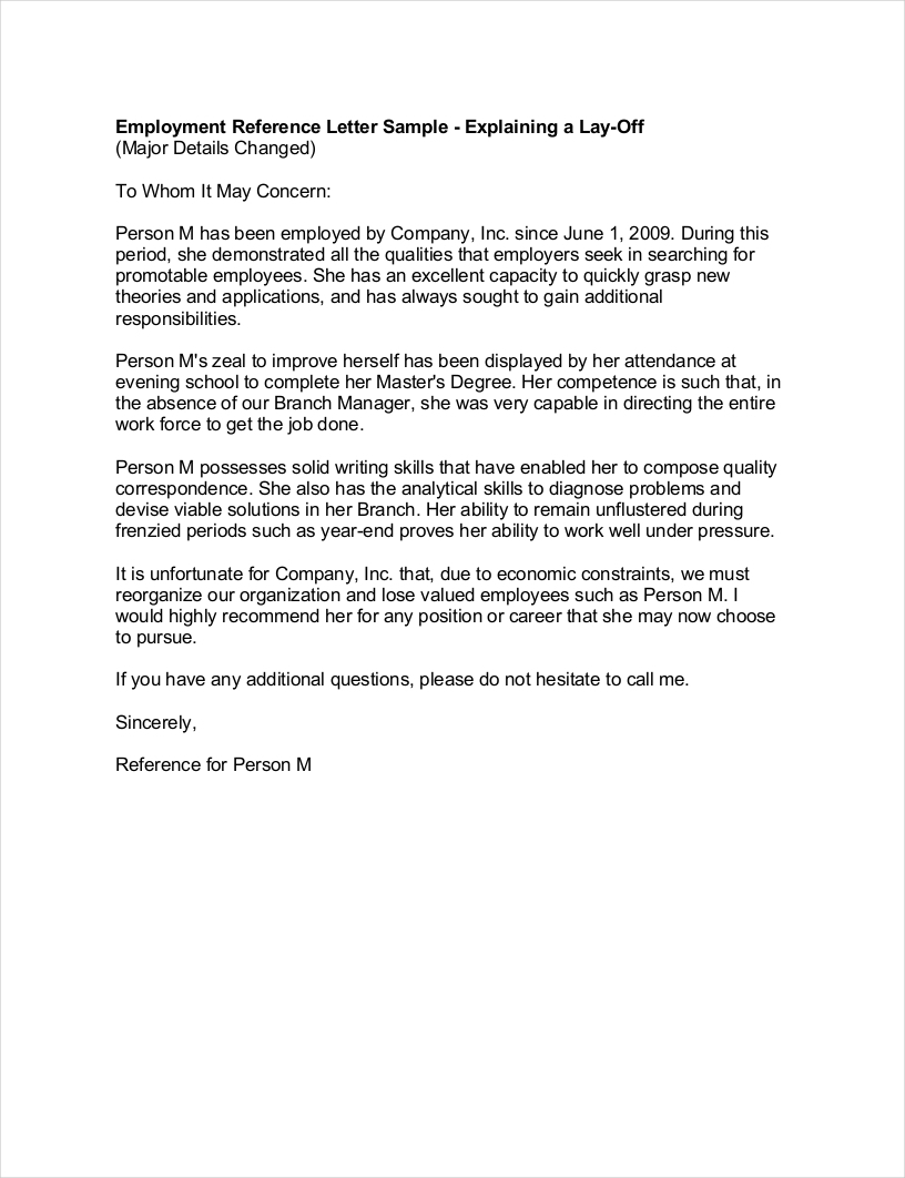 Net Neutrality Letter Template - 9 Employee Reference Letter Examples & Samples In Pdf