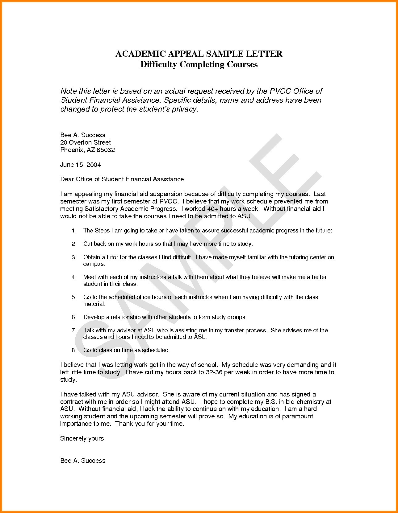 Dismissal letter template samples letter cover templates for Academic probation letter template