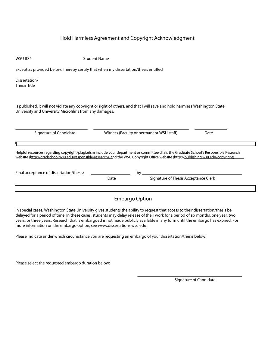 Hold Harmless Letter Template - Agreement Letter Template – Cool Green Jobs