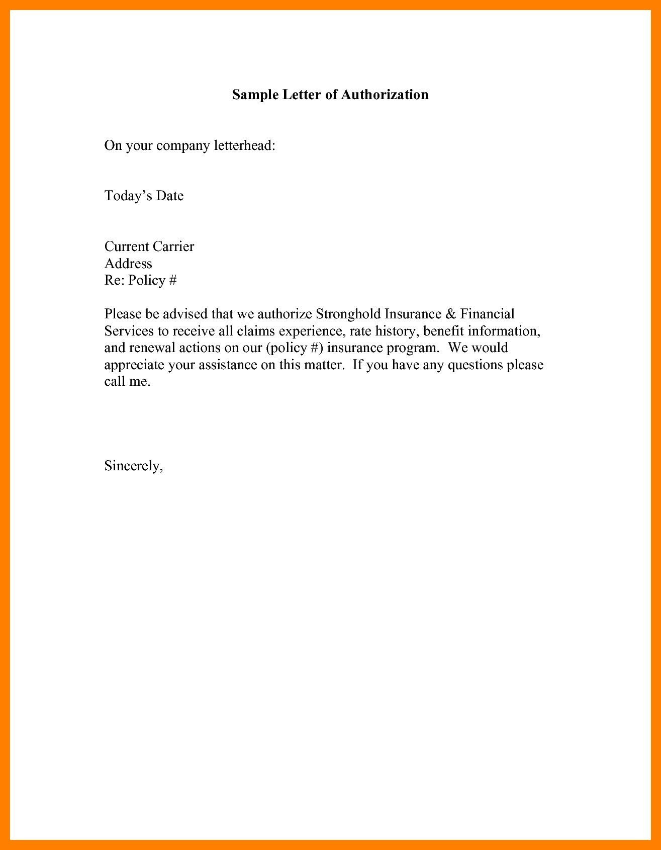 Irrevocable Letter Of Credit Template - Authorization Letter for Use Of Credit Card Sample Of Authorization