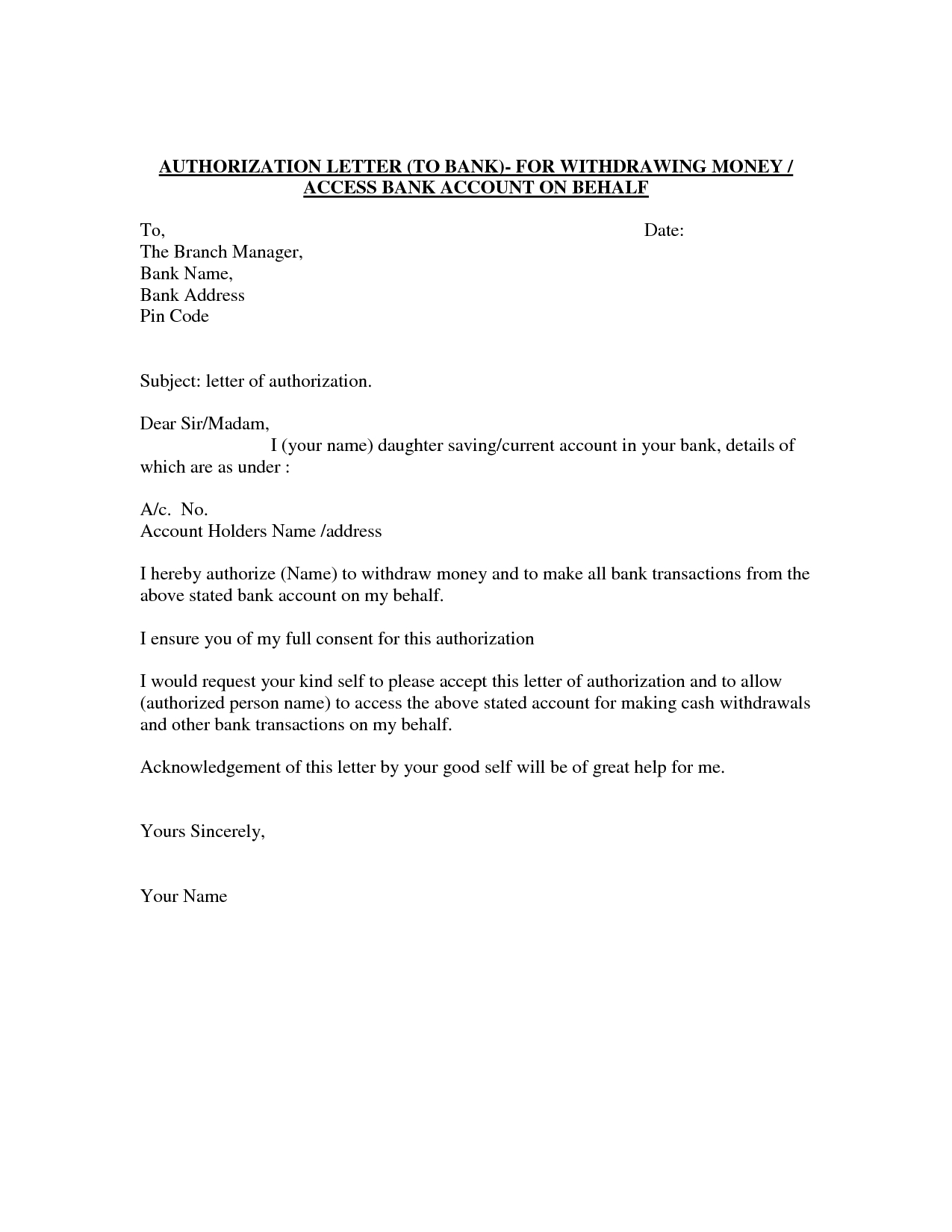 Letter to My Future Self Template - Authorization Letter Template Best Car Galleryformal Letter