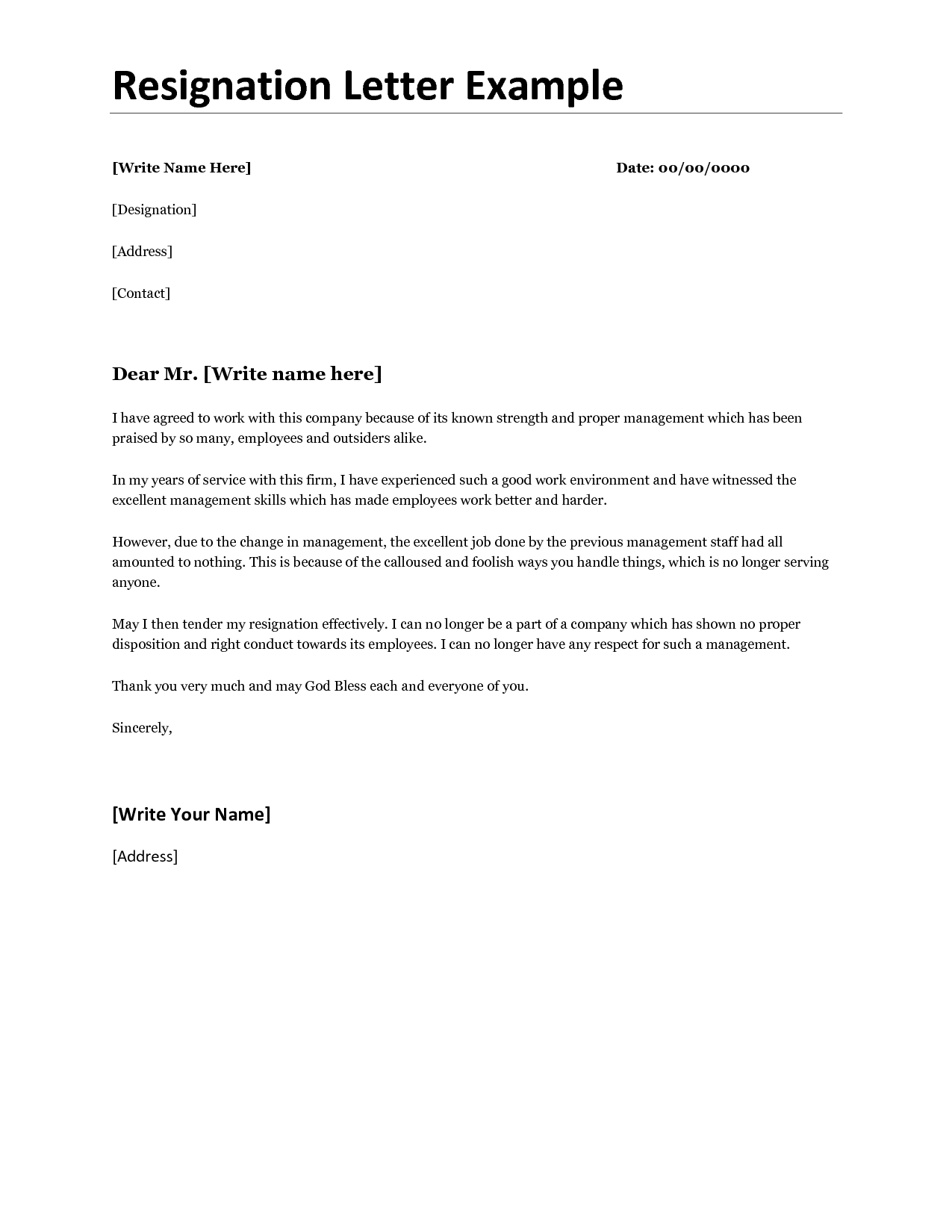 Official Letter Of Resignation Template - Awesome Acceptance Resignation Letter Template