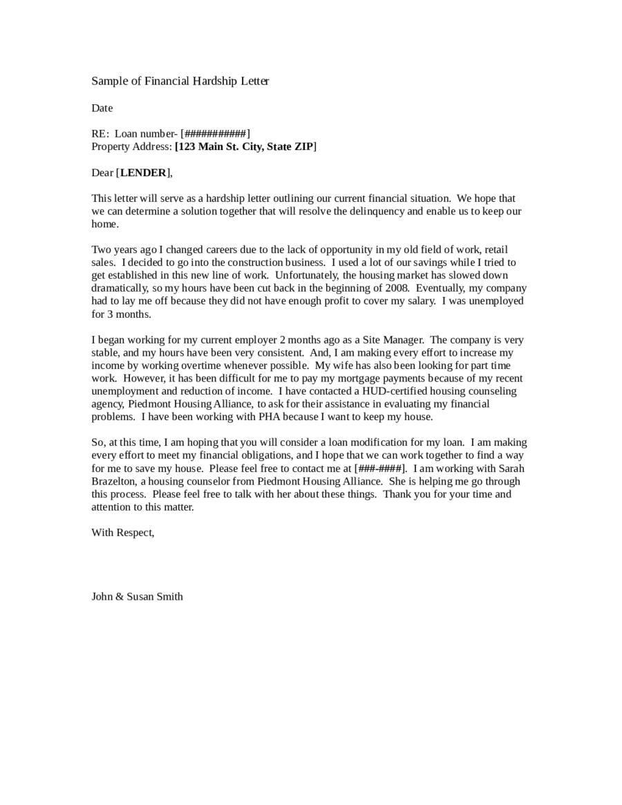 Immigration Hardship Letter Template - Awesome Hardship Letter for Immigration Example Your Template