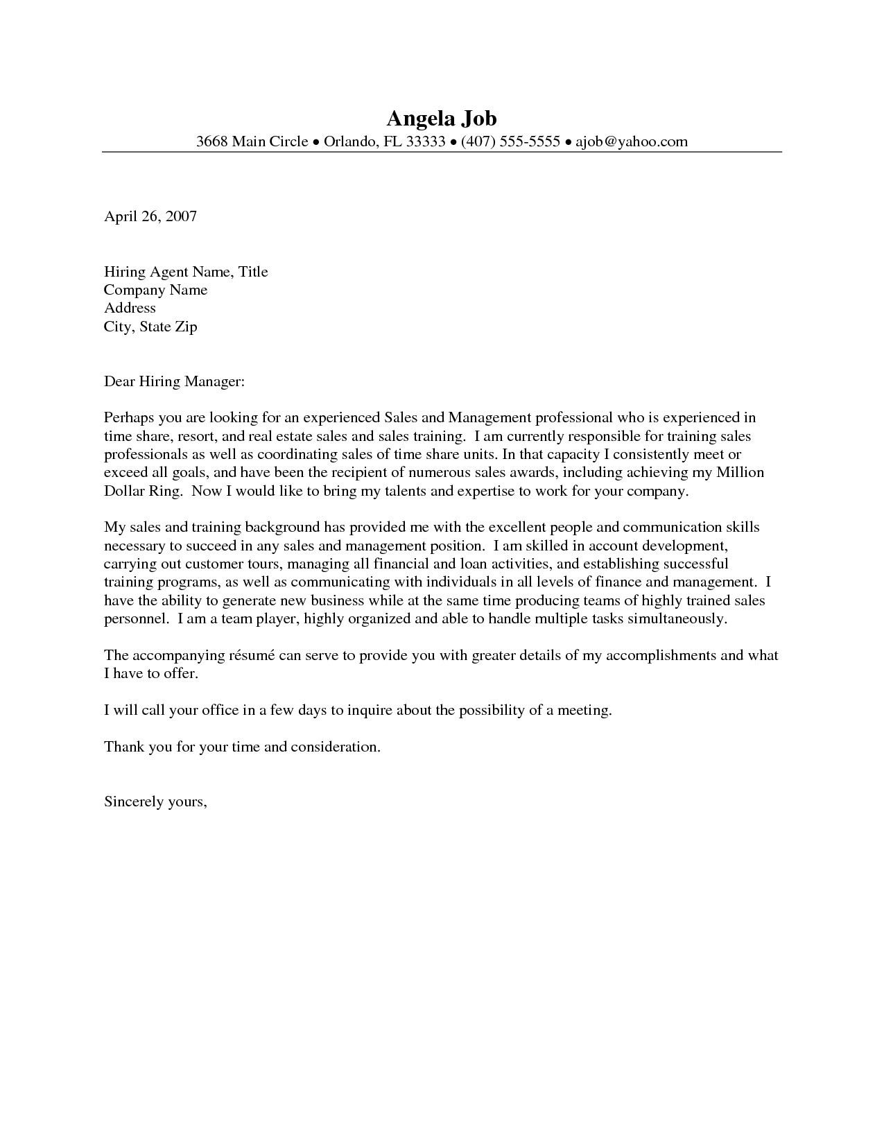 Real Estate Introduction Letter Template Examples Letter Cover - Real-estate-associate-cover-letter