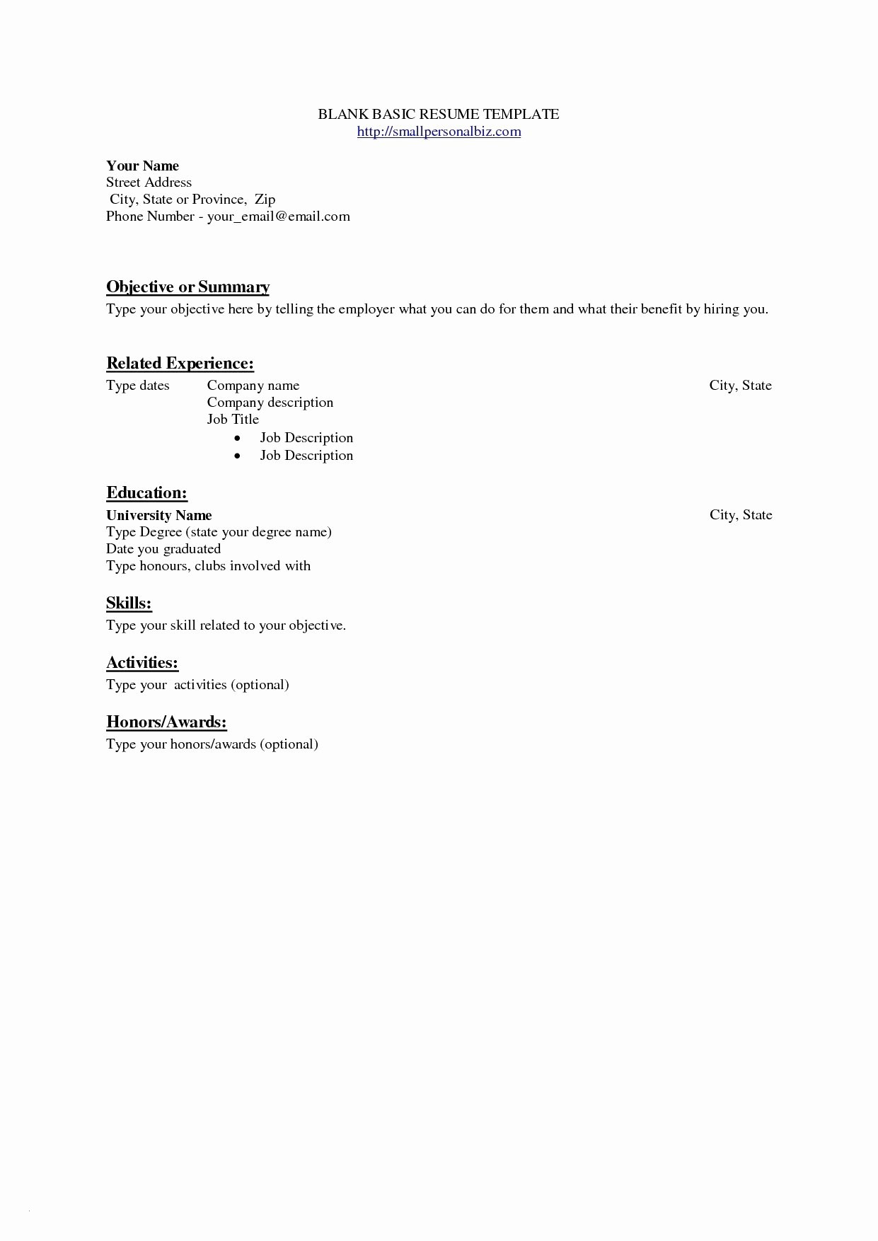 Resume and Cover Letter Template Microsoft Word - Basic Resume Template Microsoft Word Inspirational New Programmer
