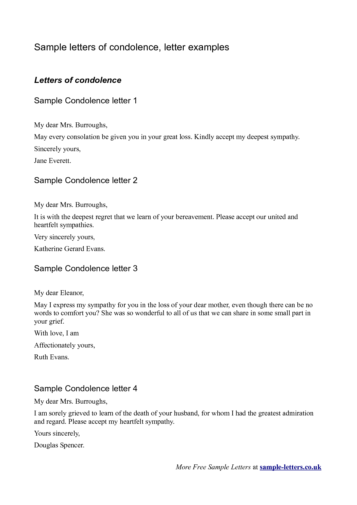 grief letter template Collection-Bereavement Sympathy Letter A simple yet sincere letter of condolence can help the bereaved both at the time of and for years to e 16-f