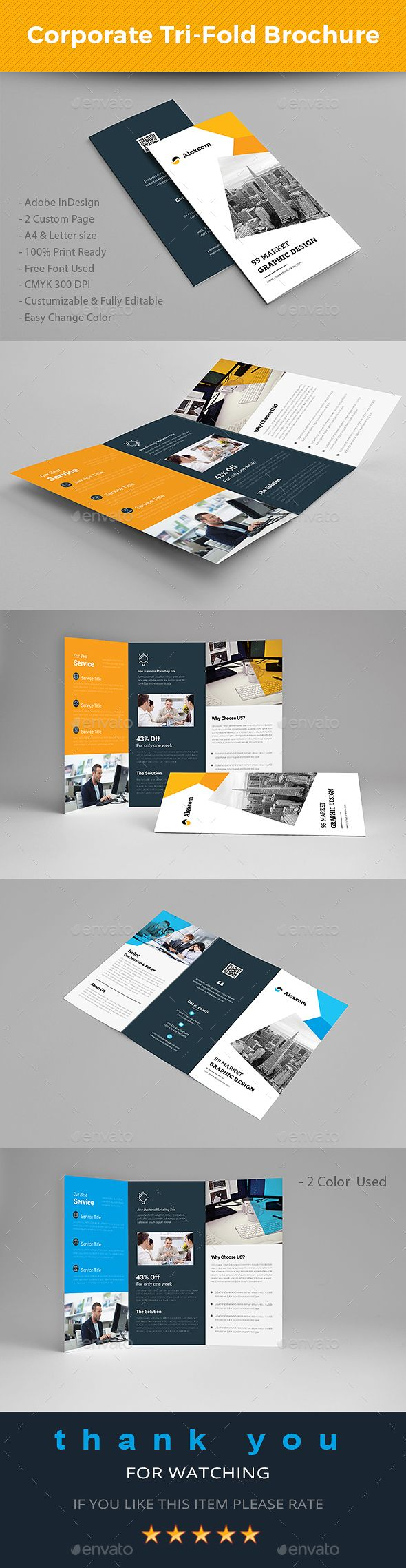 letter size tri fold brochure template