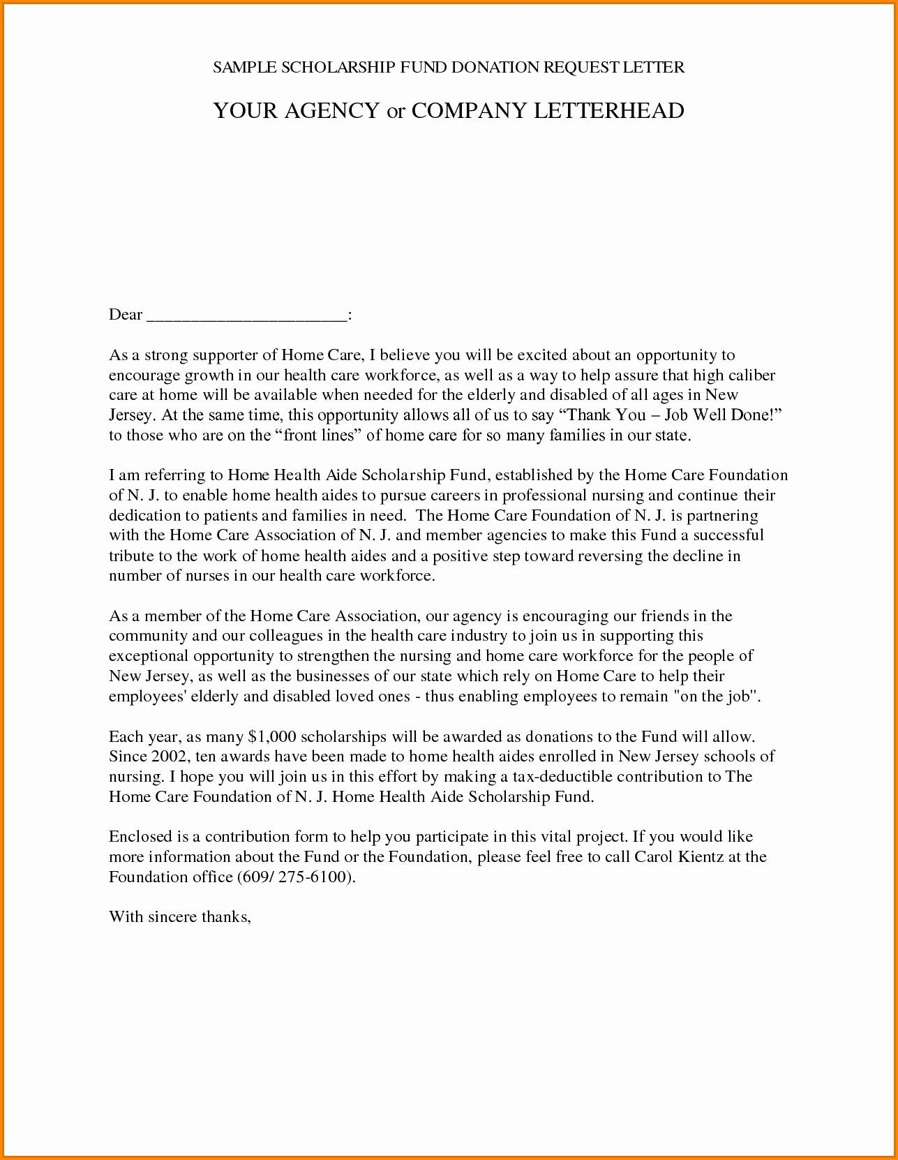 Request for Donations Letter Template Free - Best Donation Letter Template