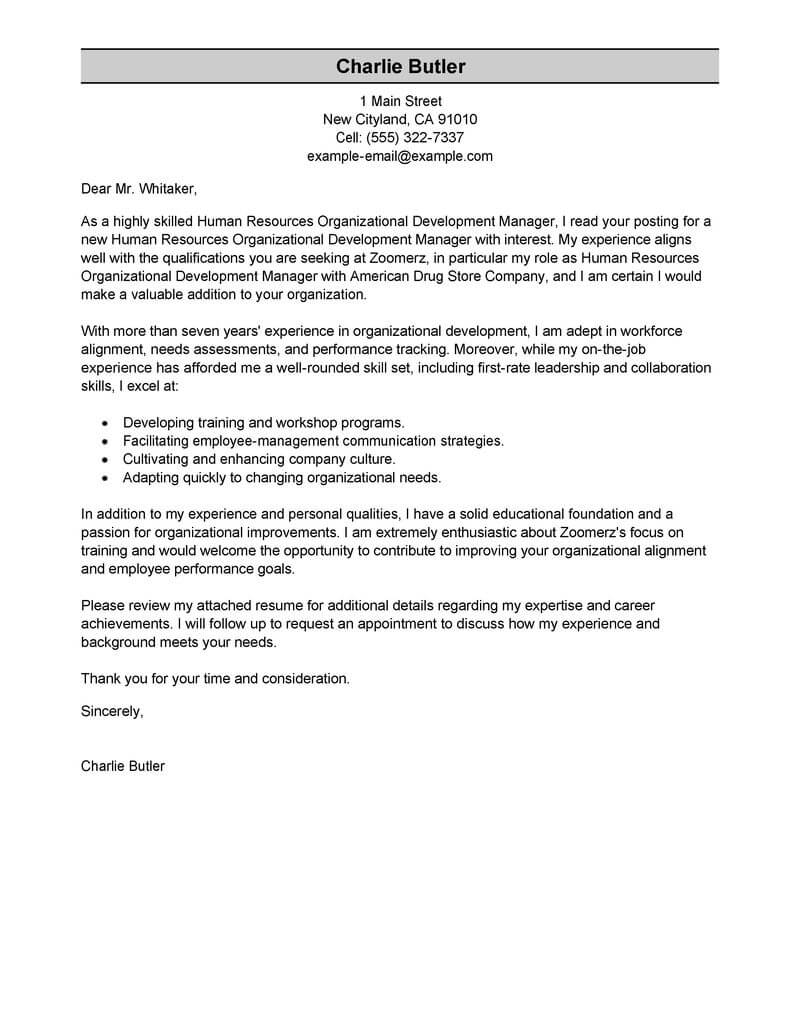 Sales associate Cover Letter Template - Best organizational Development Cover Letter Examples