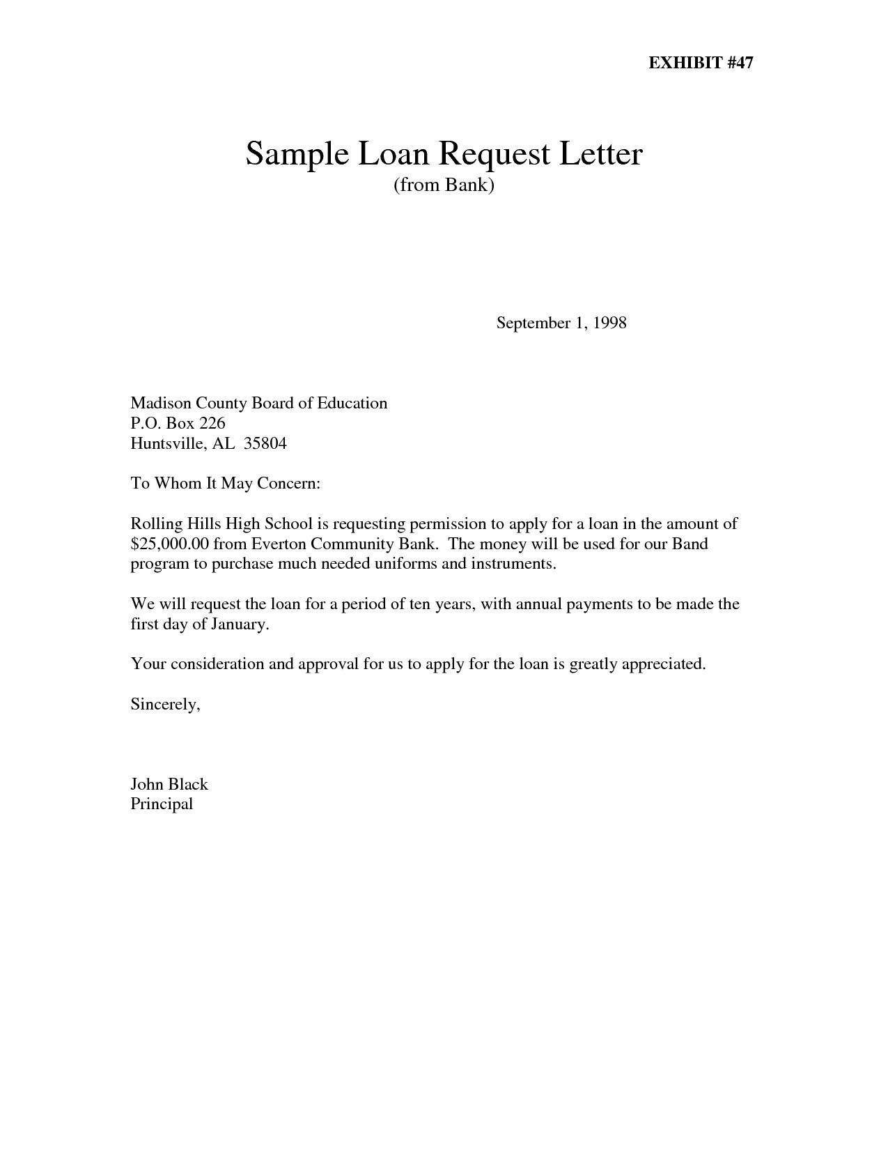 Personal Loan Repayment Letter Template - Best Request Letter to Bank Loan