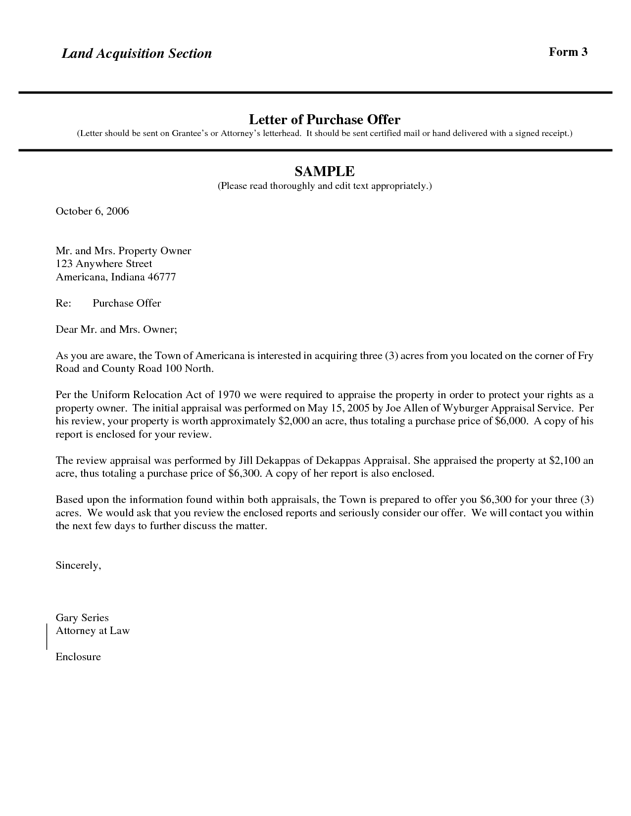 Letter Of Intent to Purchase Land Template Examples | Letter Cover