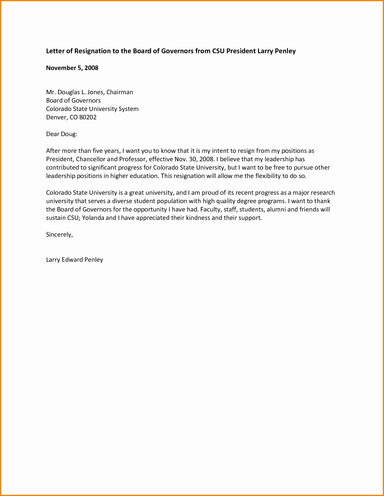 resignation letter from board of directors template samples letter