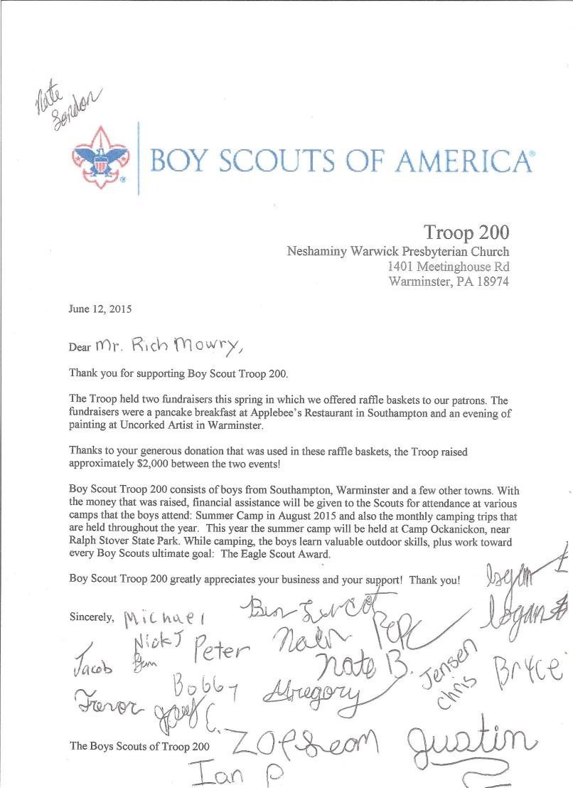 Sample Donation Request Letter Template Scout on relay for life, free campaign,
