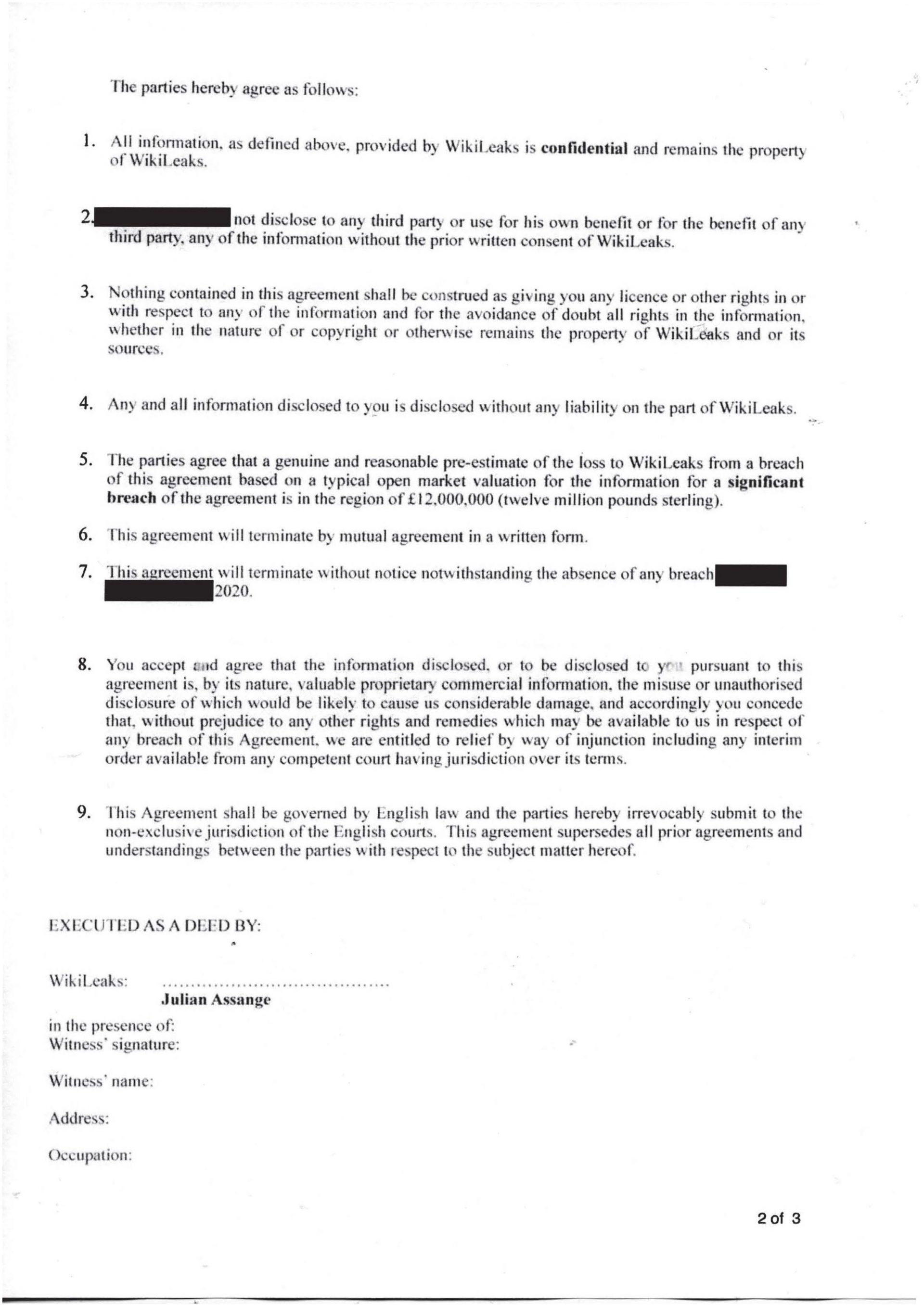Disclosure Letter Template - Breach Contract Letter