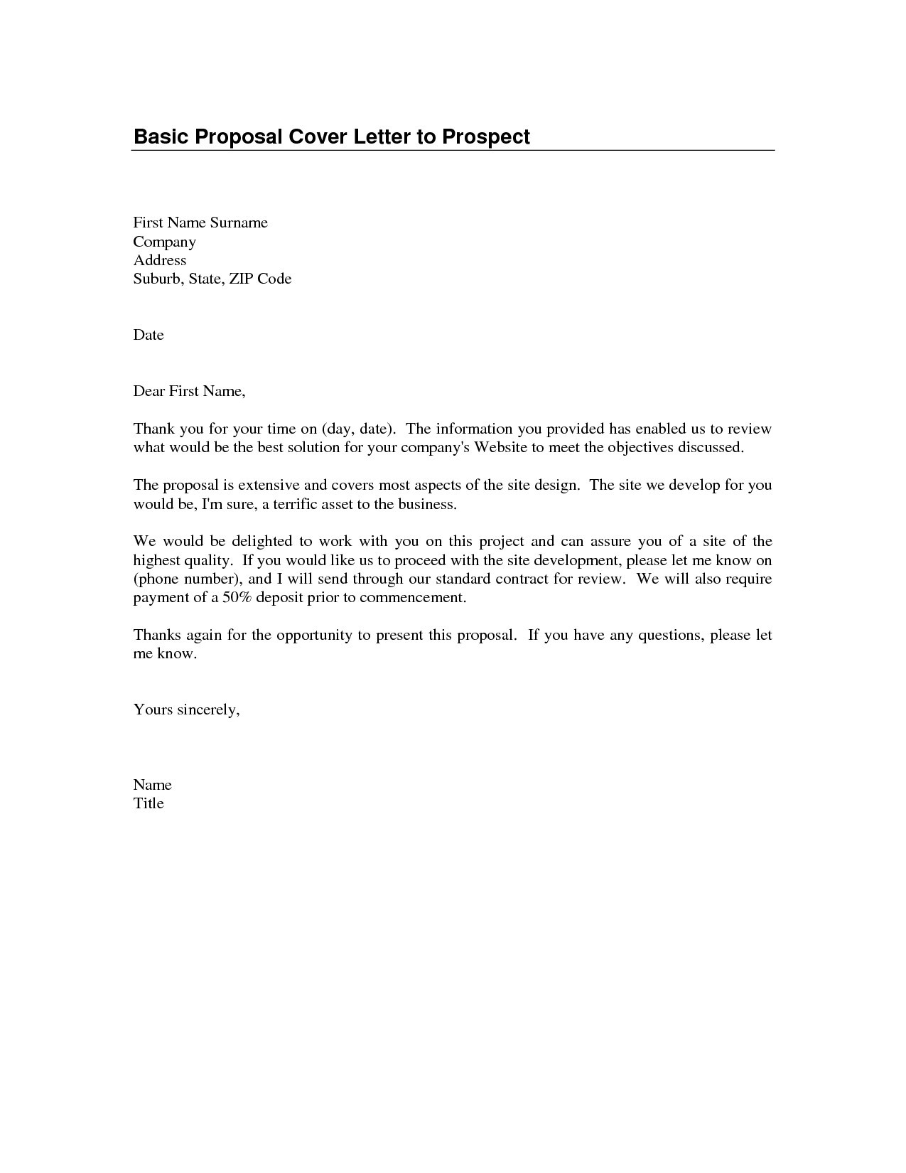 Business Proposal Acceptance Letter Template Collection Letter