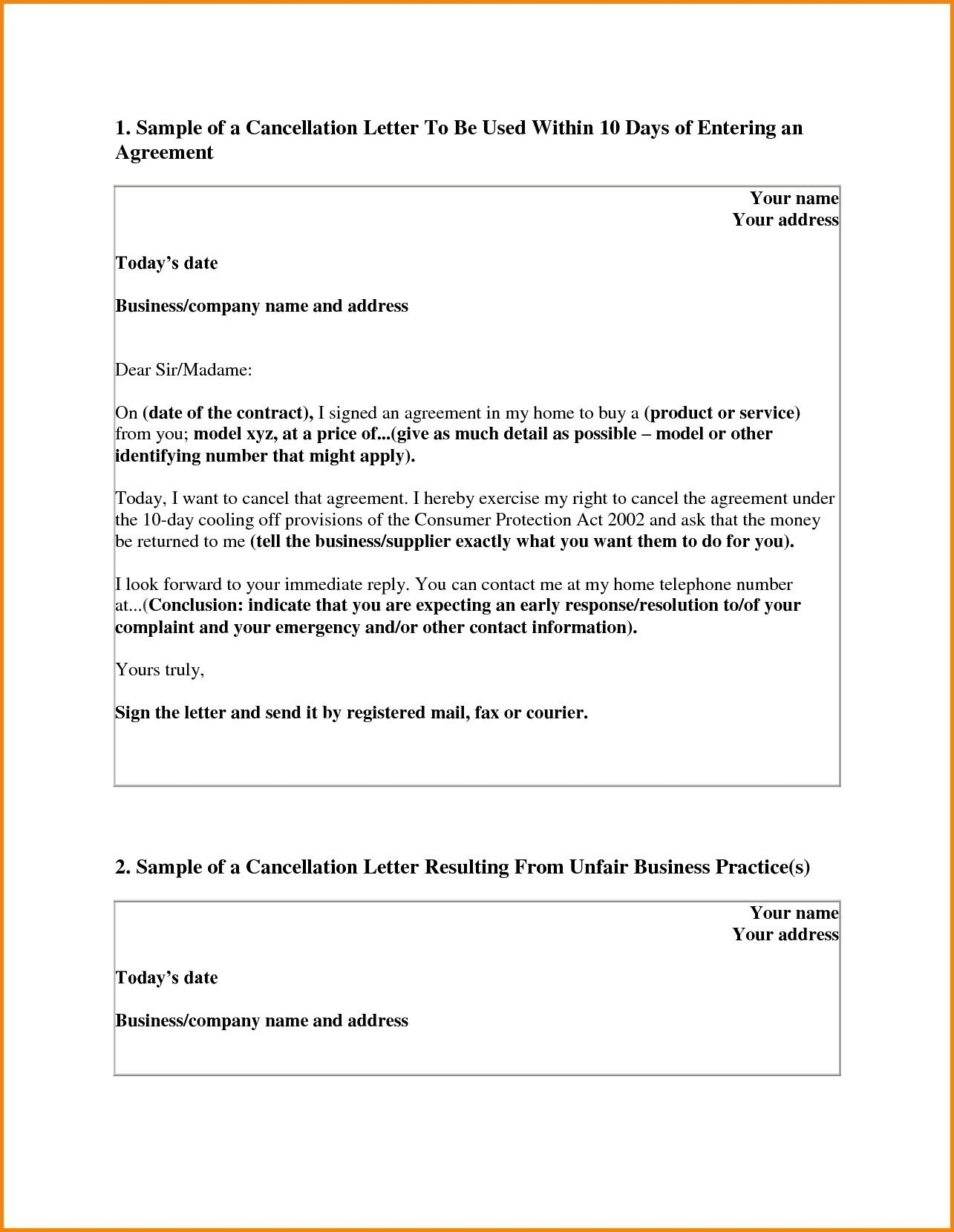 Timeshare Rescission Letter Template - Business Purchase Contract Template Inspirationa Sample Cancellation