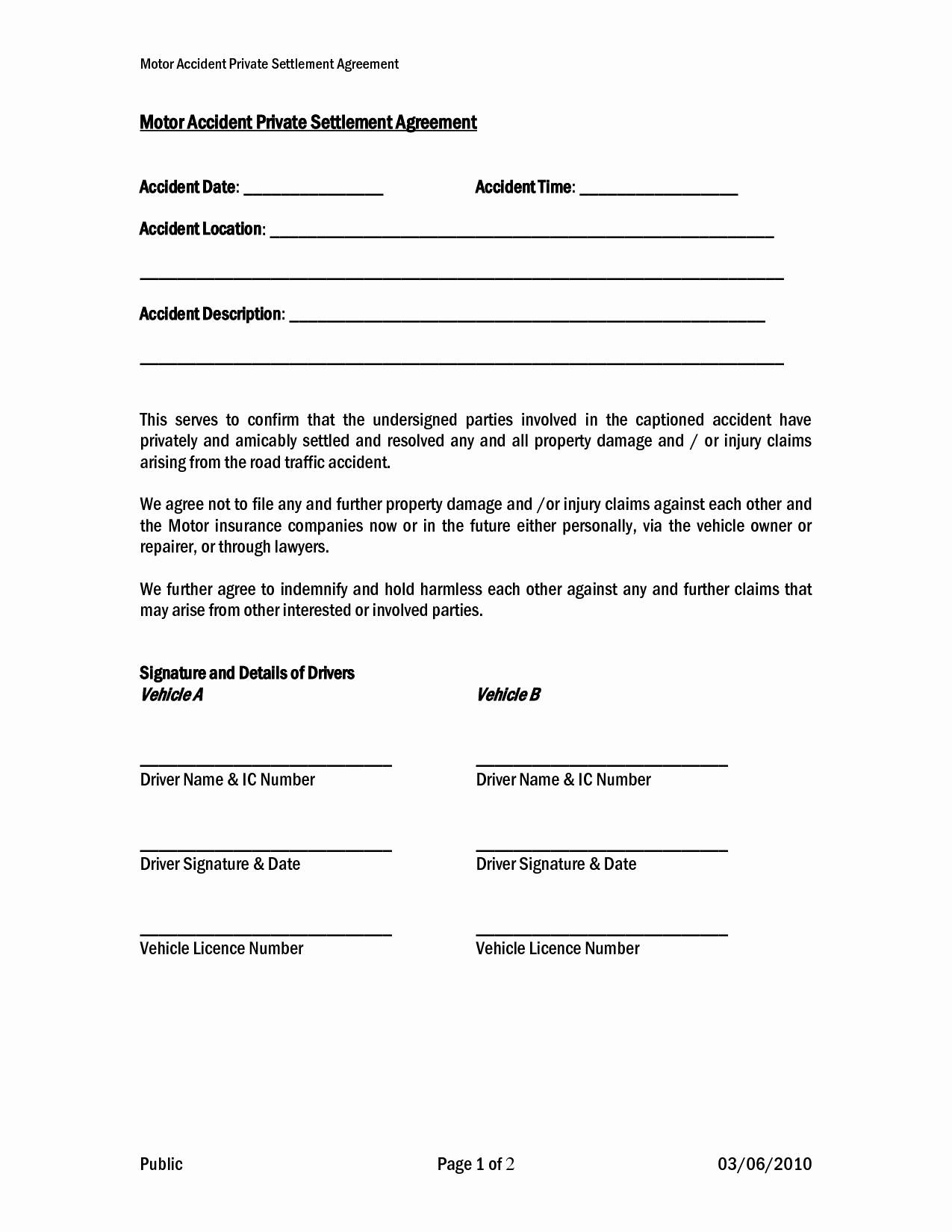 Car Accident Settlement Letter Template Samples Letter Cover Templates