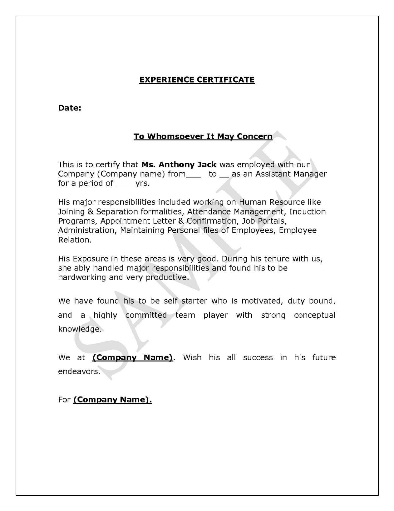 Letter Of Separation From Employer Template - Certificate Employment Sample In the Philippines Best